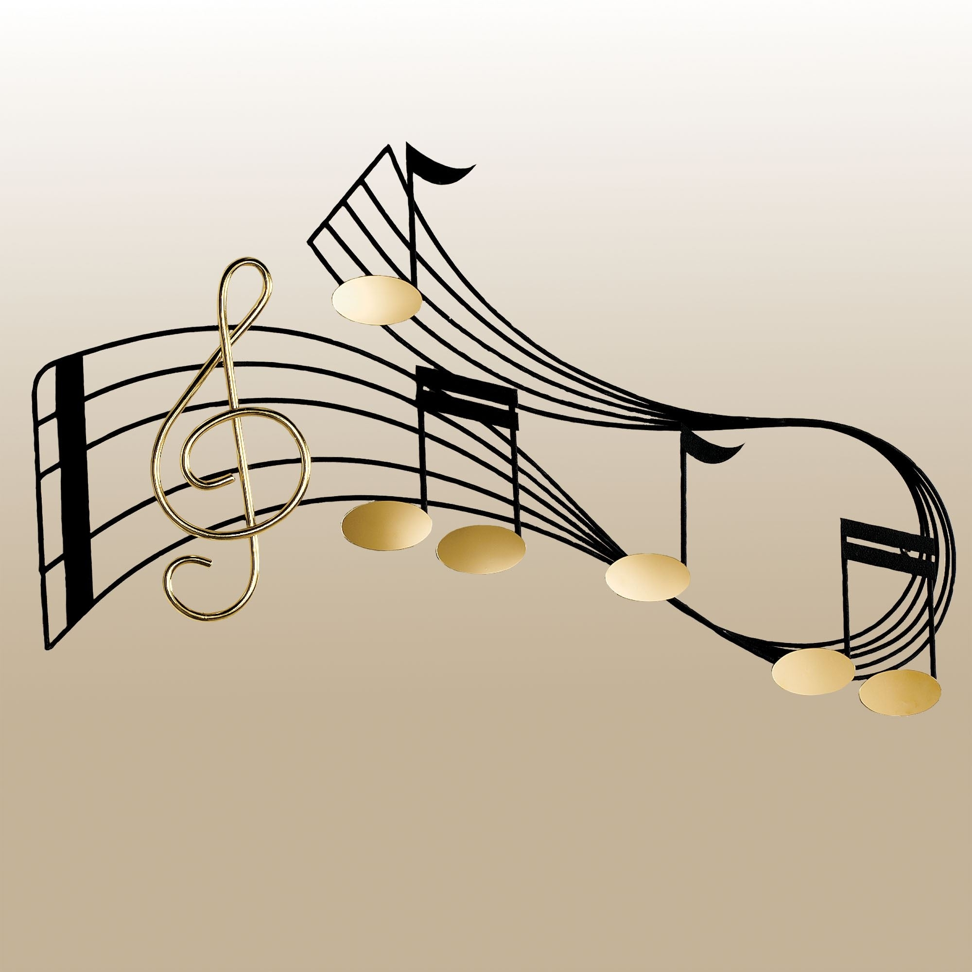 Rhythm Music Staff Metal Wall Sculpture For 2018 Music Wall Art (Gallery 9 of 15)