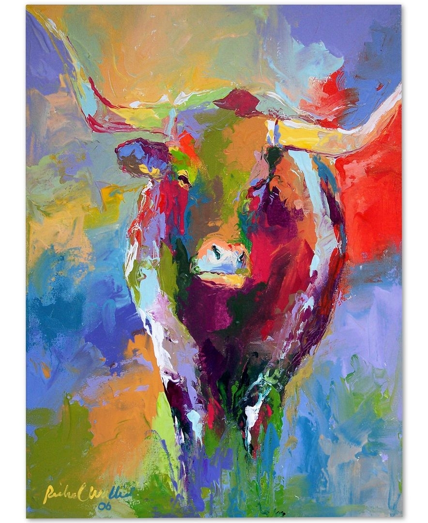 Richard Wallich 'longhorn' Canvas Wall Art | Canvases And Products In Newest Cow Canvas Wall Art (Gallery 18 of 20)