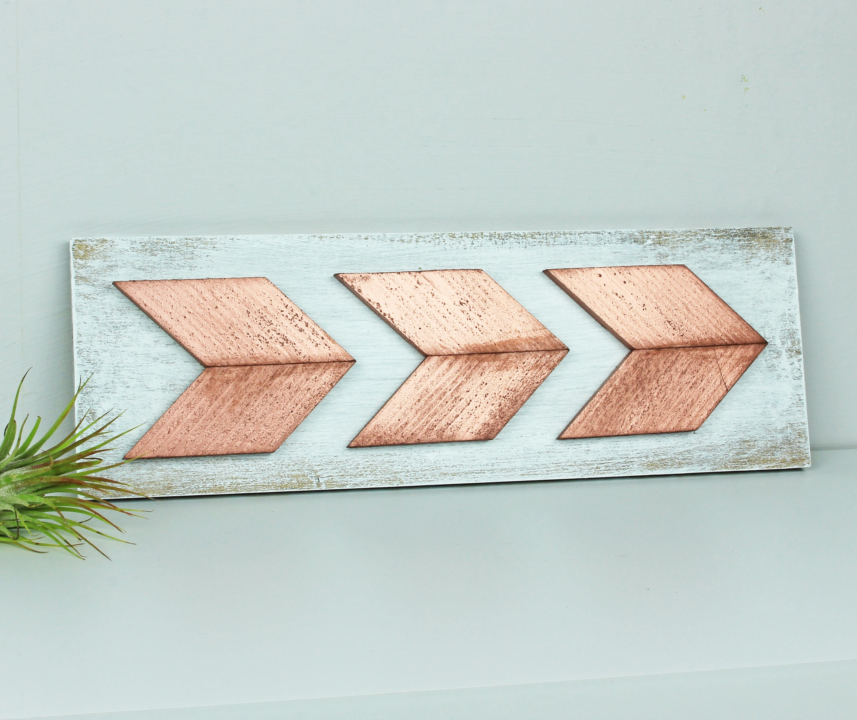 Rose Gold Chevron Arrow Wall Art, Boho Arrow Rose Gold Nursery Wall With Regard To Newest Arrow Wall Art (View 8 of 20)