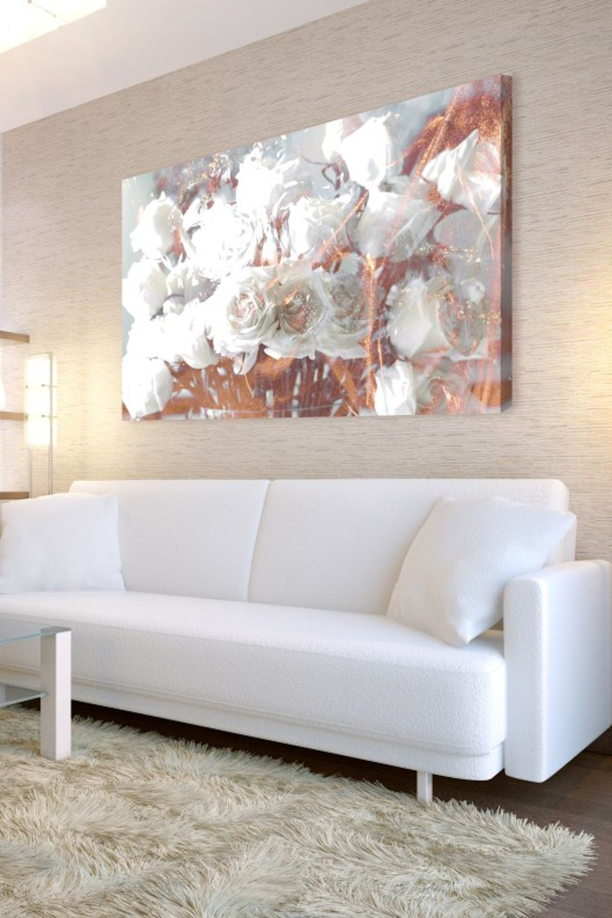 Rose Gold Metallic Floral Painting | Home Inspiration | Pinterest Inside Newest Gold Wall Art (View 9 of 15)