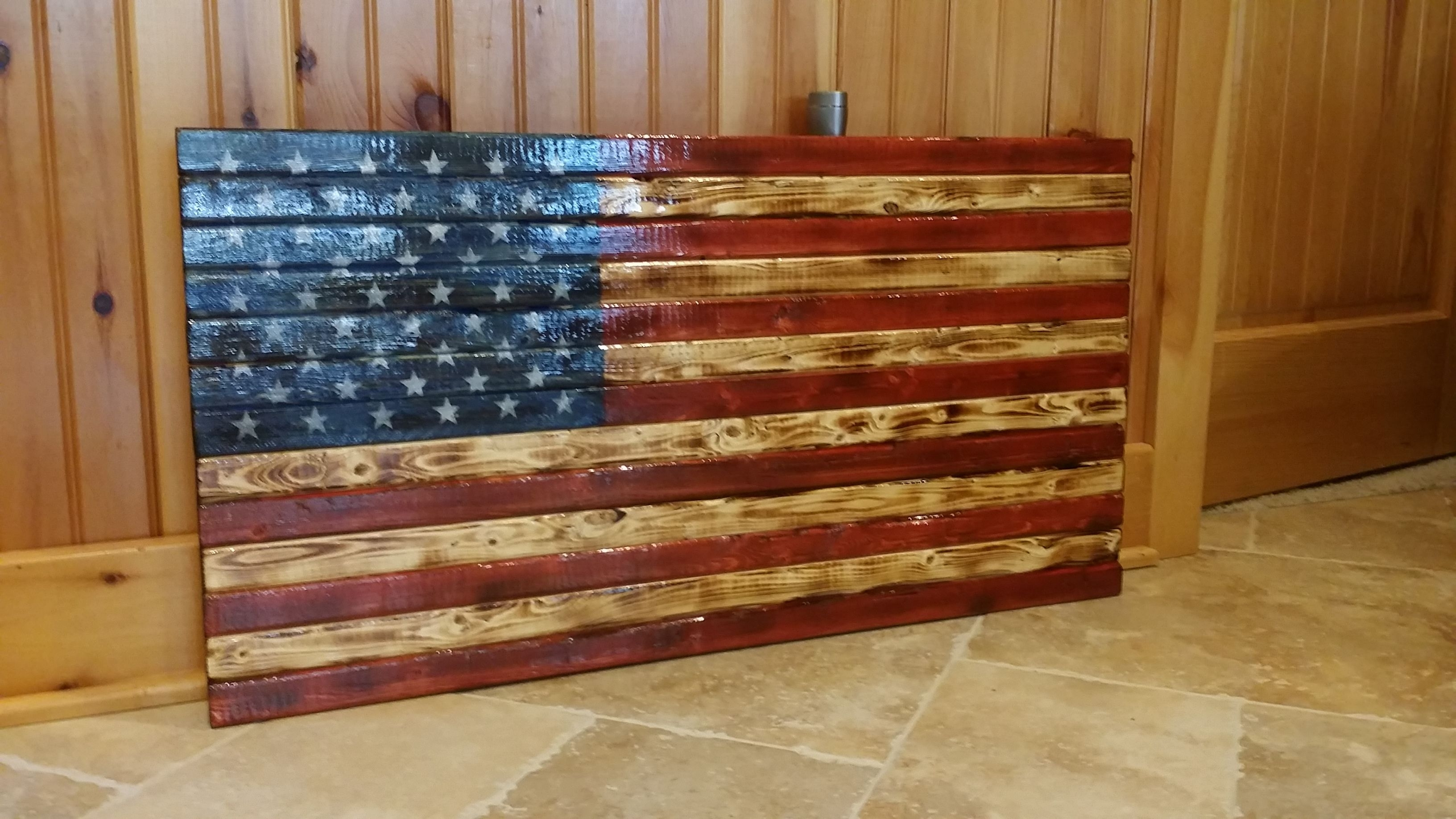 Rustic American Flag Wooden Wall Art. #americana #'merica #homedecor Intended For 2018 Rustic American Flag Wall Art (Gallery 17 of 20)