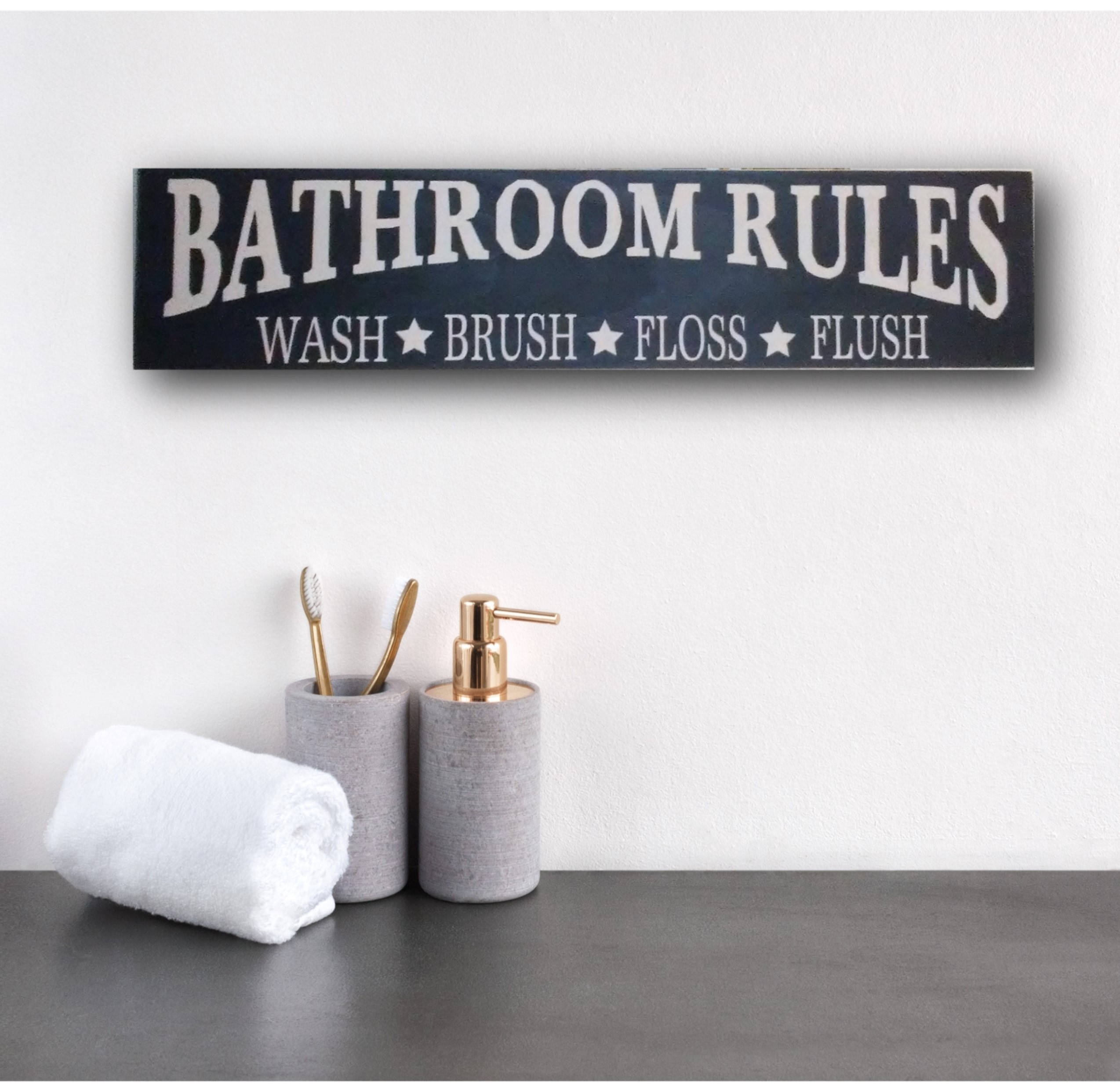 Rustic Bathroom Sign, Rustic Bathroom Rules Sign, Rustic Bathroom Intended For Most Recently Released Bathroom Rules Wall Art (View 7 of 20)