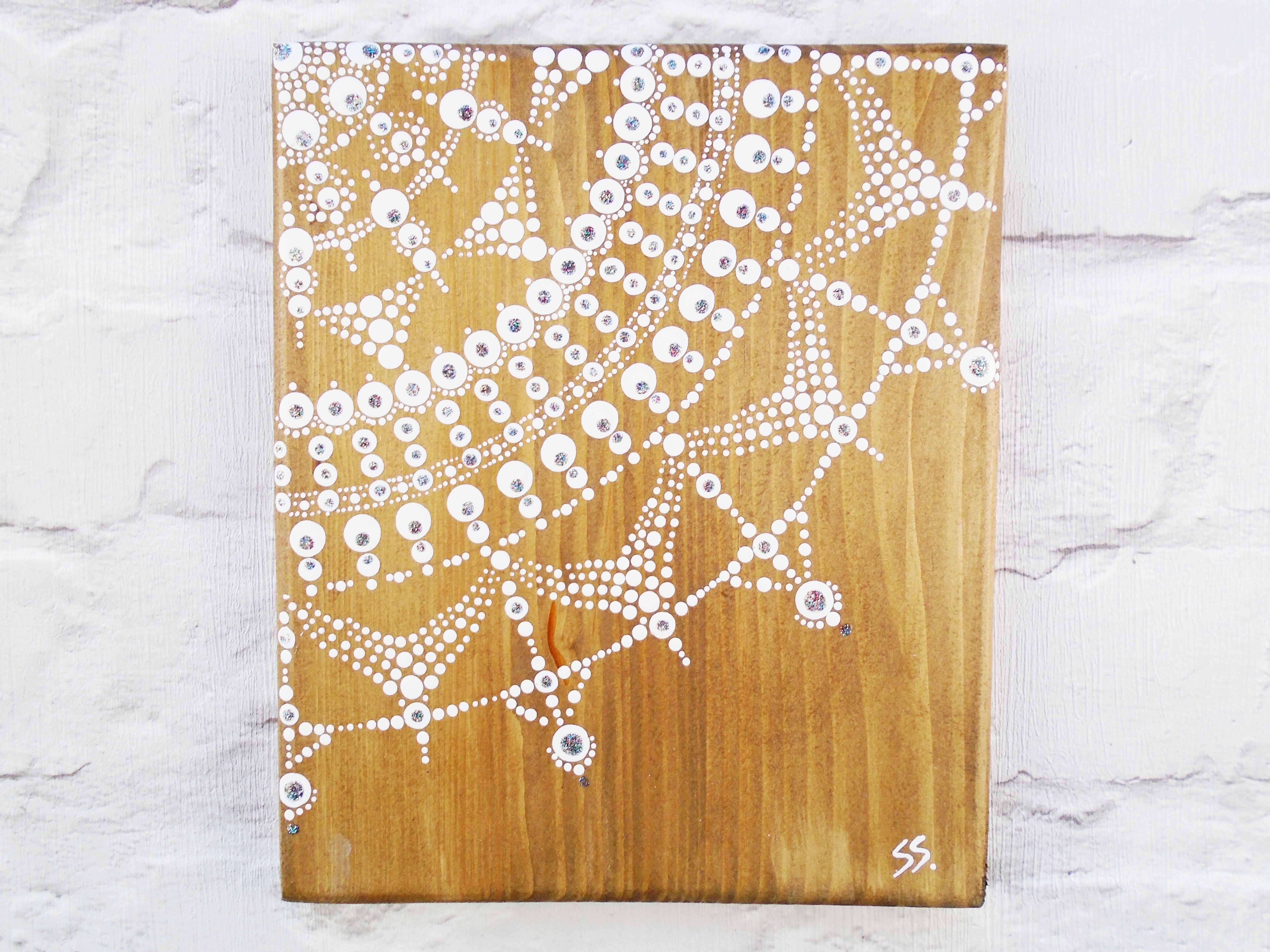 Rustic Mandala Wall Art | White Mandala On Rustic Wood | Dot Art Within Recent Mandala Wall Art (View 19 of 20)
