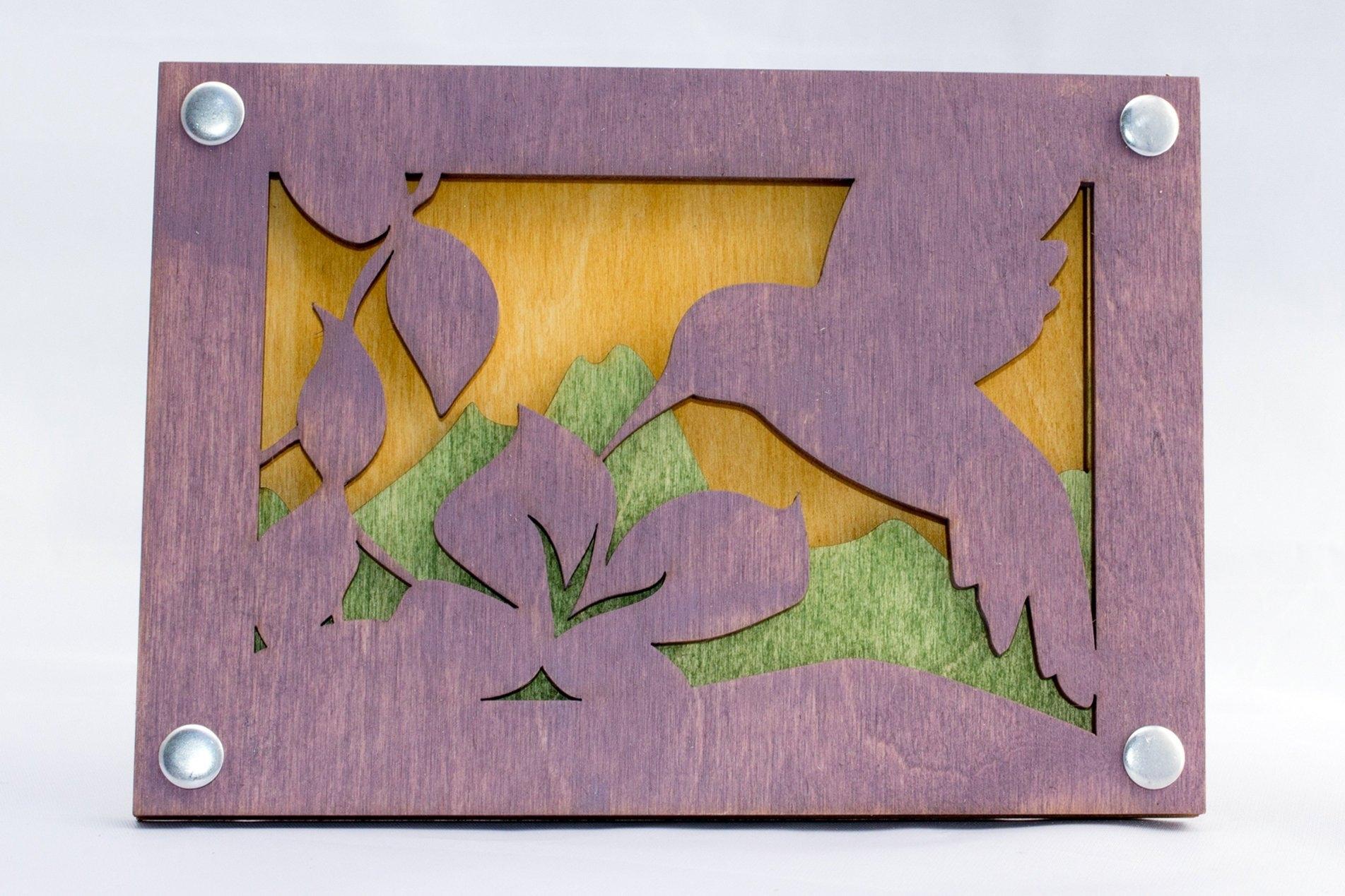 Rustic Wall Art – Mountain Wall Decor – Hummingbird Scene – Mountain With Latest Rustic Wall Art (View 10 of 15)