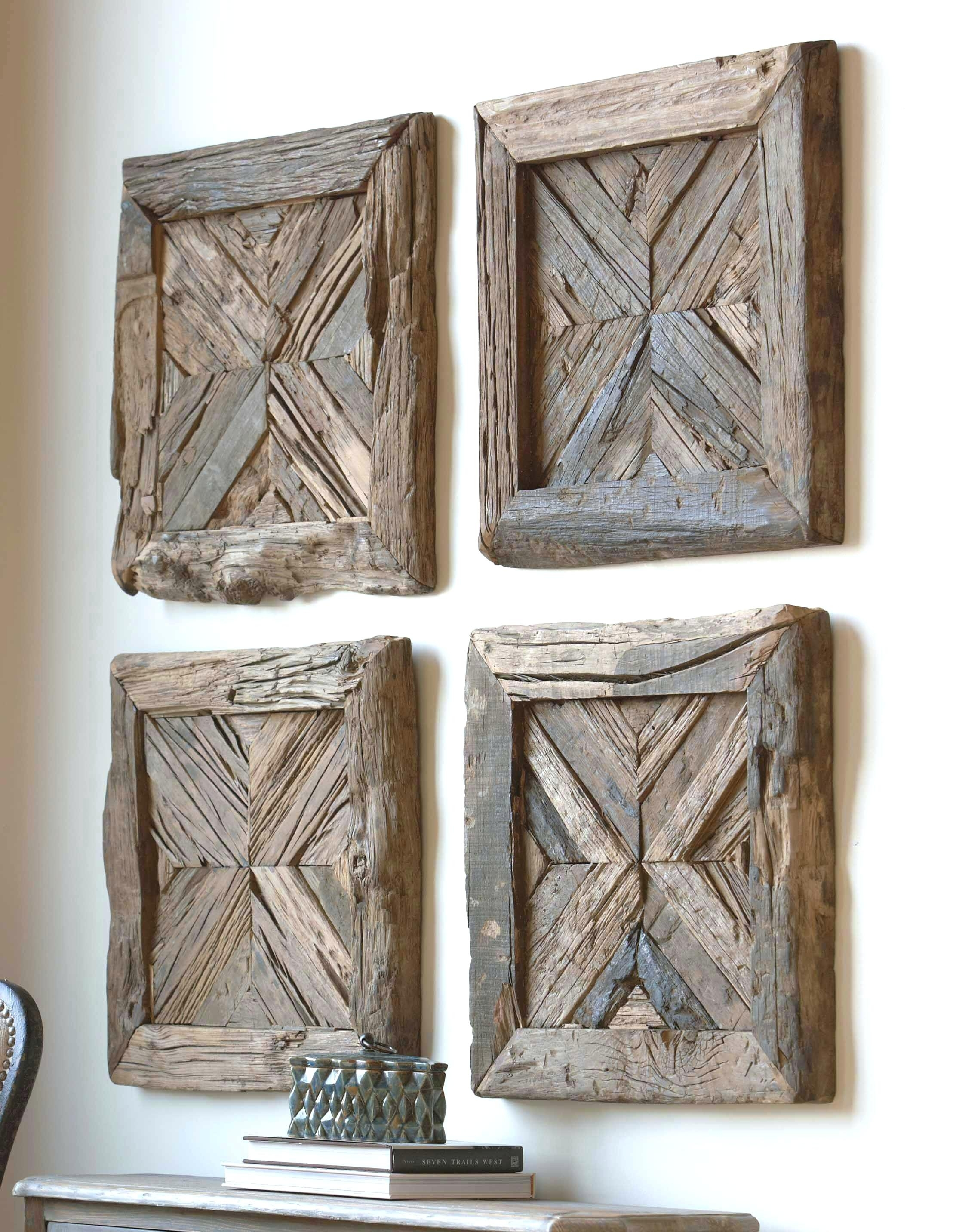 Rustic Wood Art Solid Pine Planked Wall Art In Brown Rustic Wood Art Throughout Newest Wood Medallion Wall Art (View 12 of 20)
