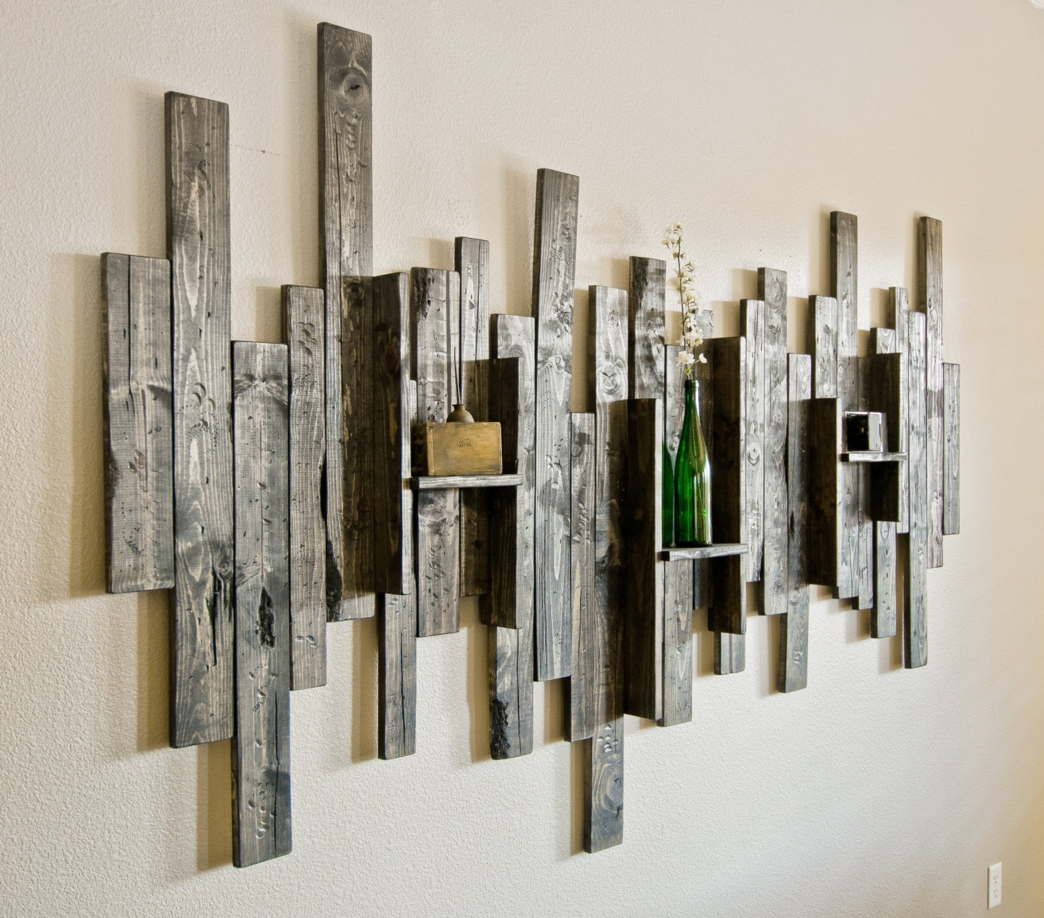 Rustic Wood Plank Wall Art : Andrews Living Arts – Create Different Regarding Most Current Decorative Wall Art (View 2 of 20)