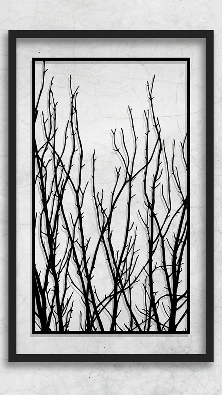 Saatchi Art: Paper Cut Artwork Tree Art Tree Branches Tree Branch In Most Up To Date Wall Tree Art (Gallery 15 of 20)