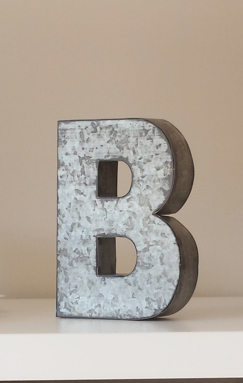 Sale Large Metal Letter Zinc Steel Initial Home Room Scheme Of Metal Inside 2017 Metal Letter Wall Art (Gallery 6 of 20)