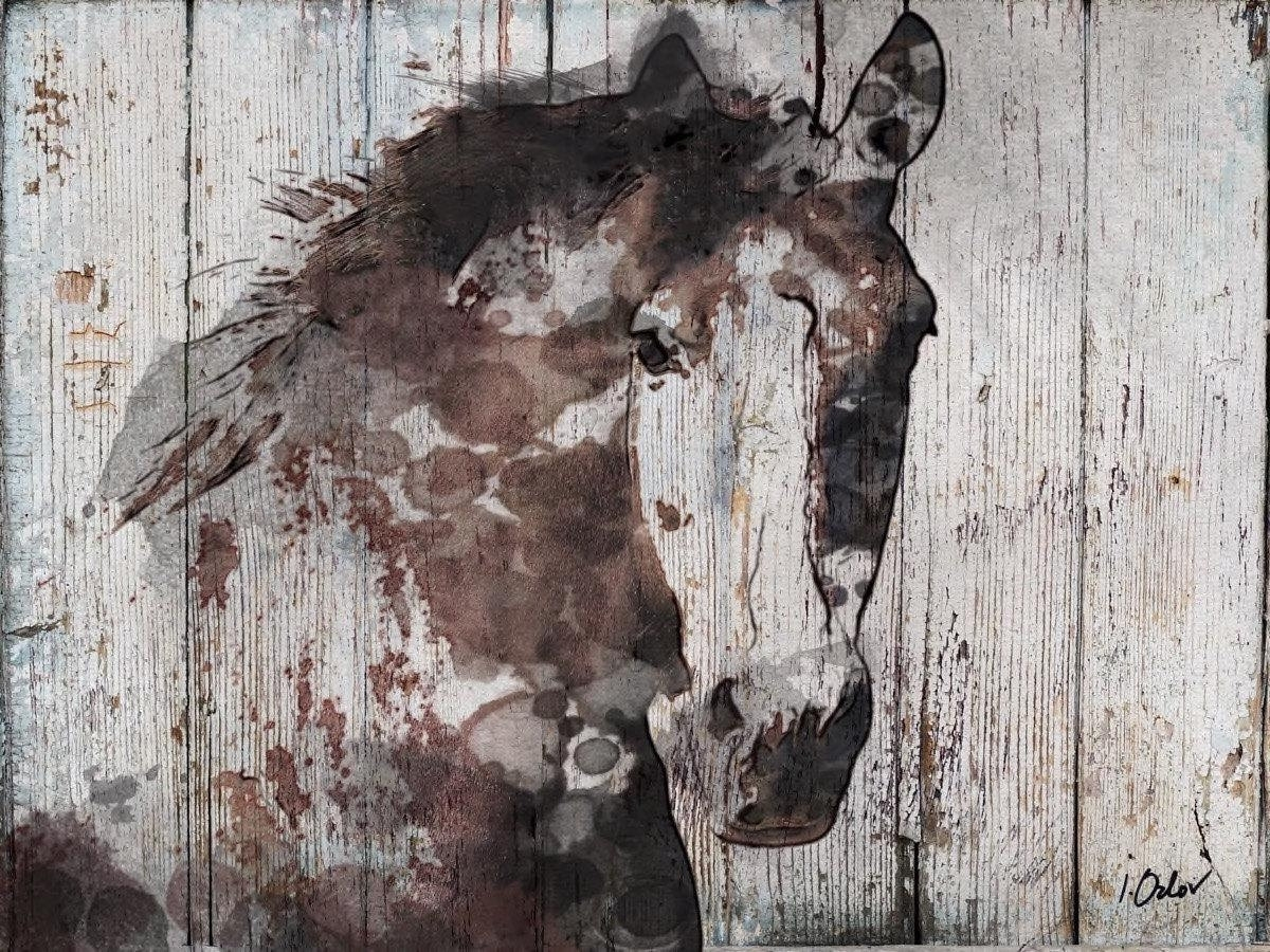 Samantha B Wild Horse. Extra Large Horse, Brown Rustic Horse, Large With Regard To Most Recently Released Horses Wall Art (Gallery 14 of 20)