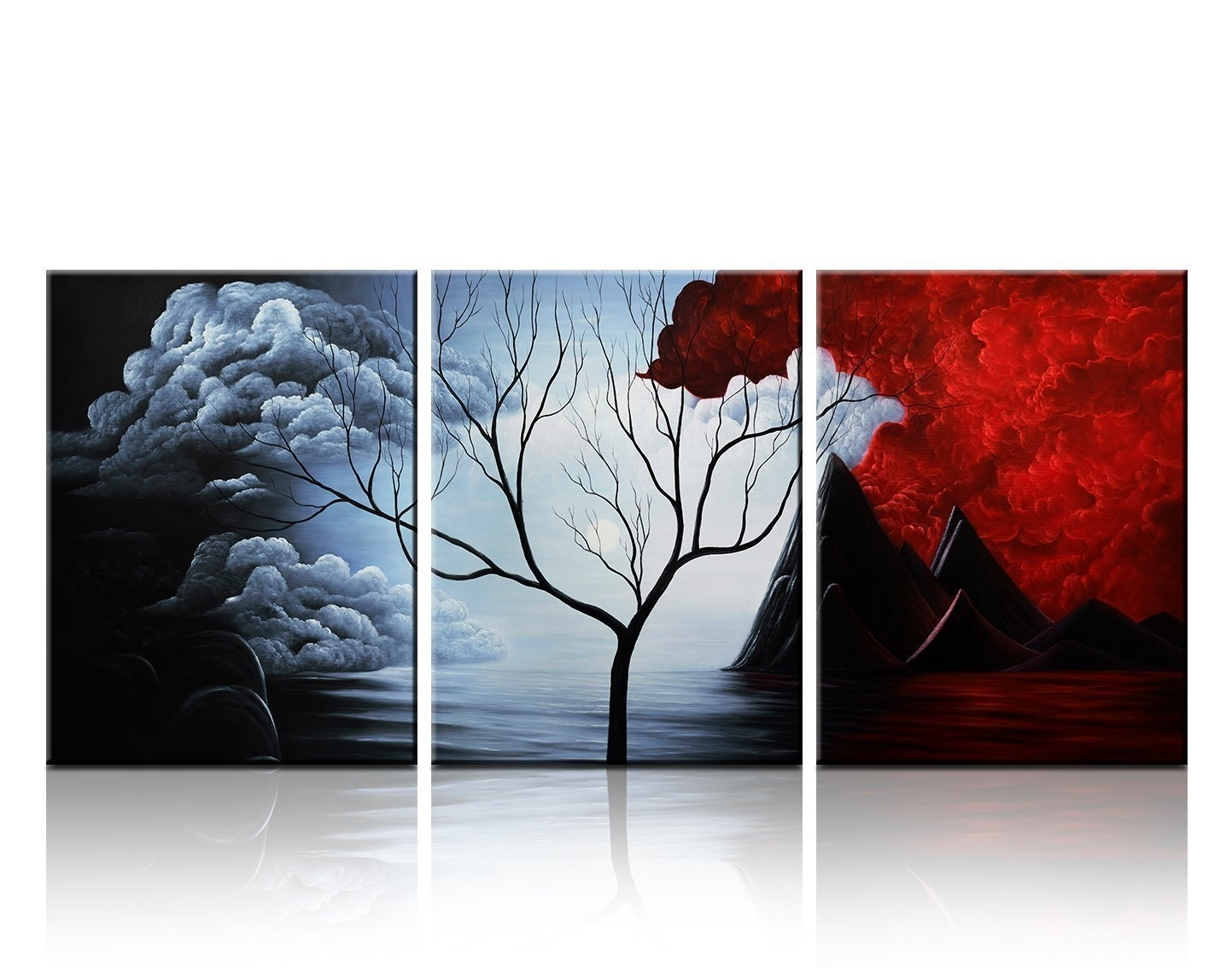 Santin Art  Modern Abstract Painting The Cloud Tree High Q. Wall Within Most Popular Modern Abstract Painting Wall Art (Gallery 12 of 20)