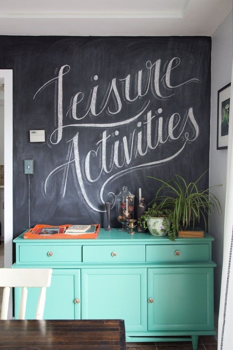 Scott And Jacqui's Artistic Homestead | Pinterest | Chalkboard Wall With Regard To 2018 Chalkboard Wall Art (View 18 of 20)