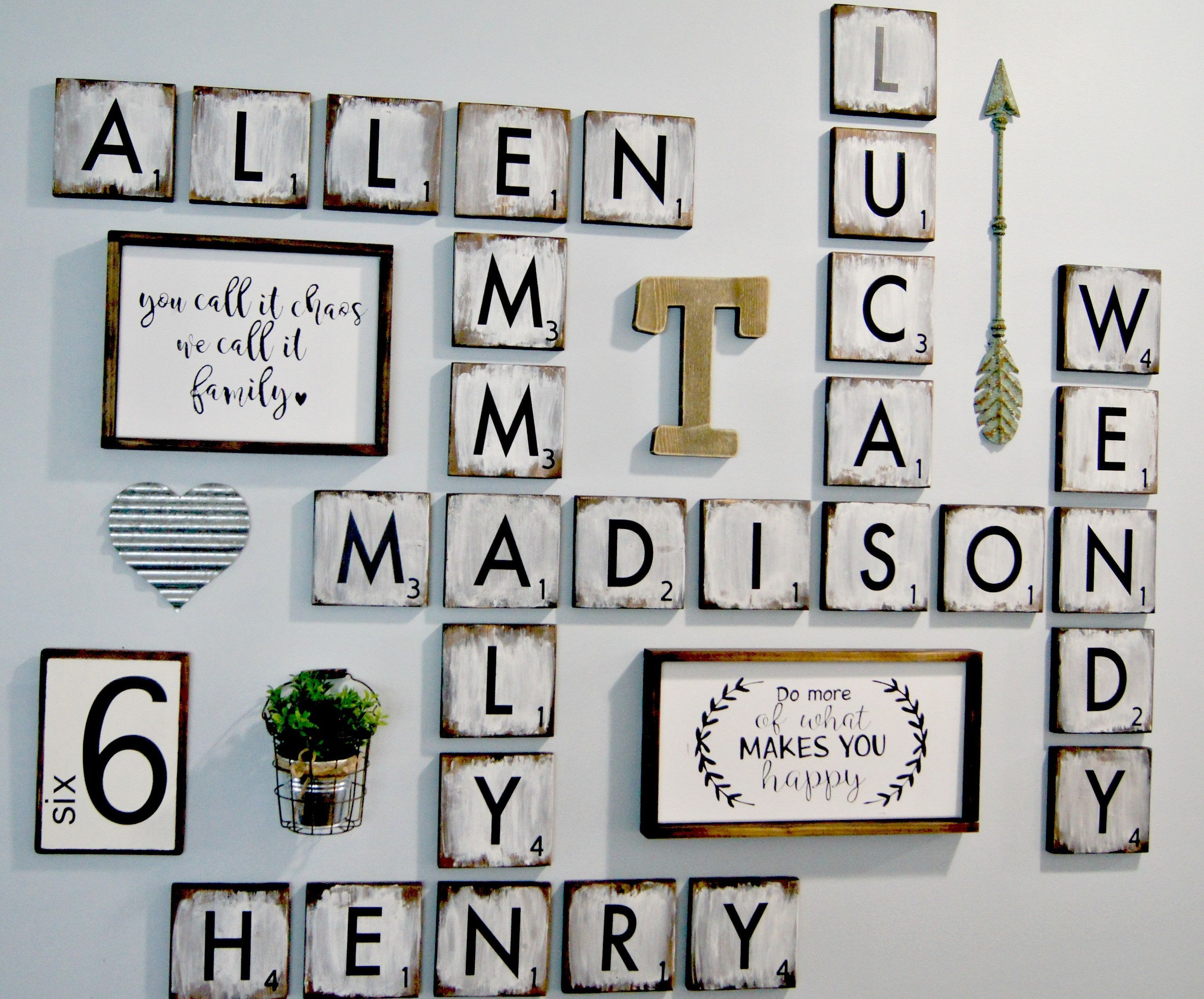 Scrabble Letters Wall Decor Diy Pinterest Design Of Family Scrabble Intended For Current Scrabble Wall Art (View 12 of 20)