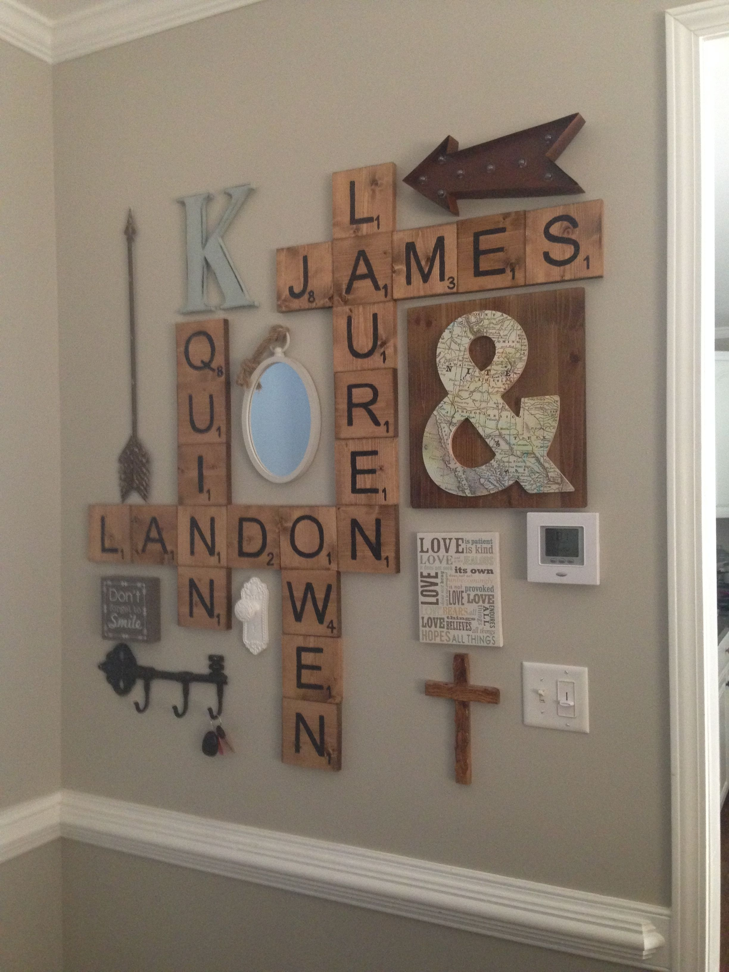 Scrabble Letters Wall Decor | Diy | Pinterest | Letter Wall Decor Pertaining To Most Recently Released Letter Wall Art (Gallery 1 of 20)