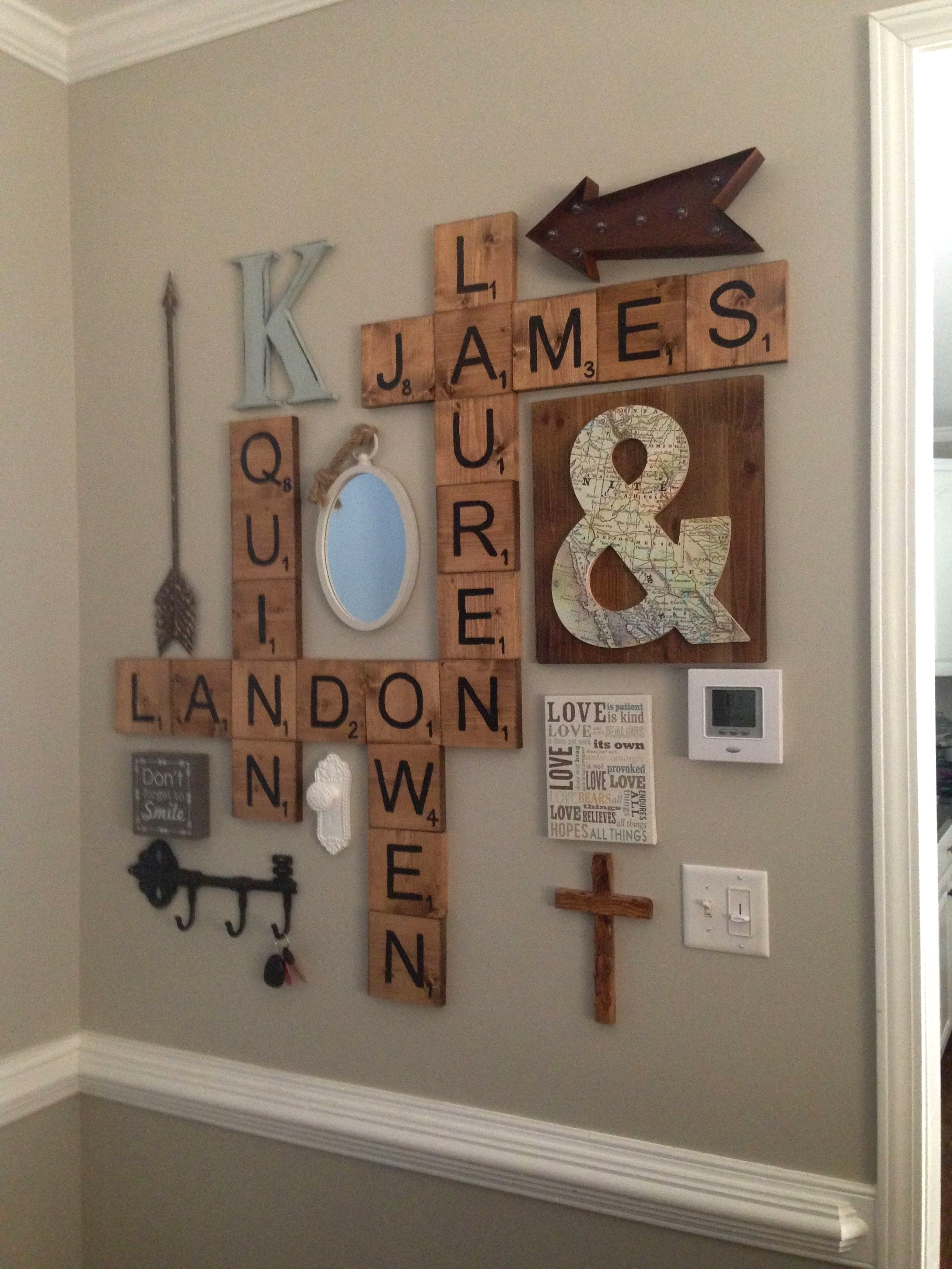 Scrabble Letters Wall Decor Diy Pinterest Scheme Of Family Scrabble In Current Scrabble Wall Art (Gallery 19 of 20)