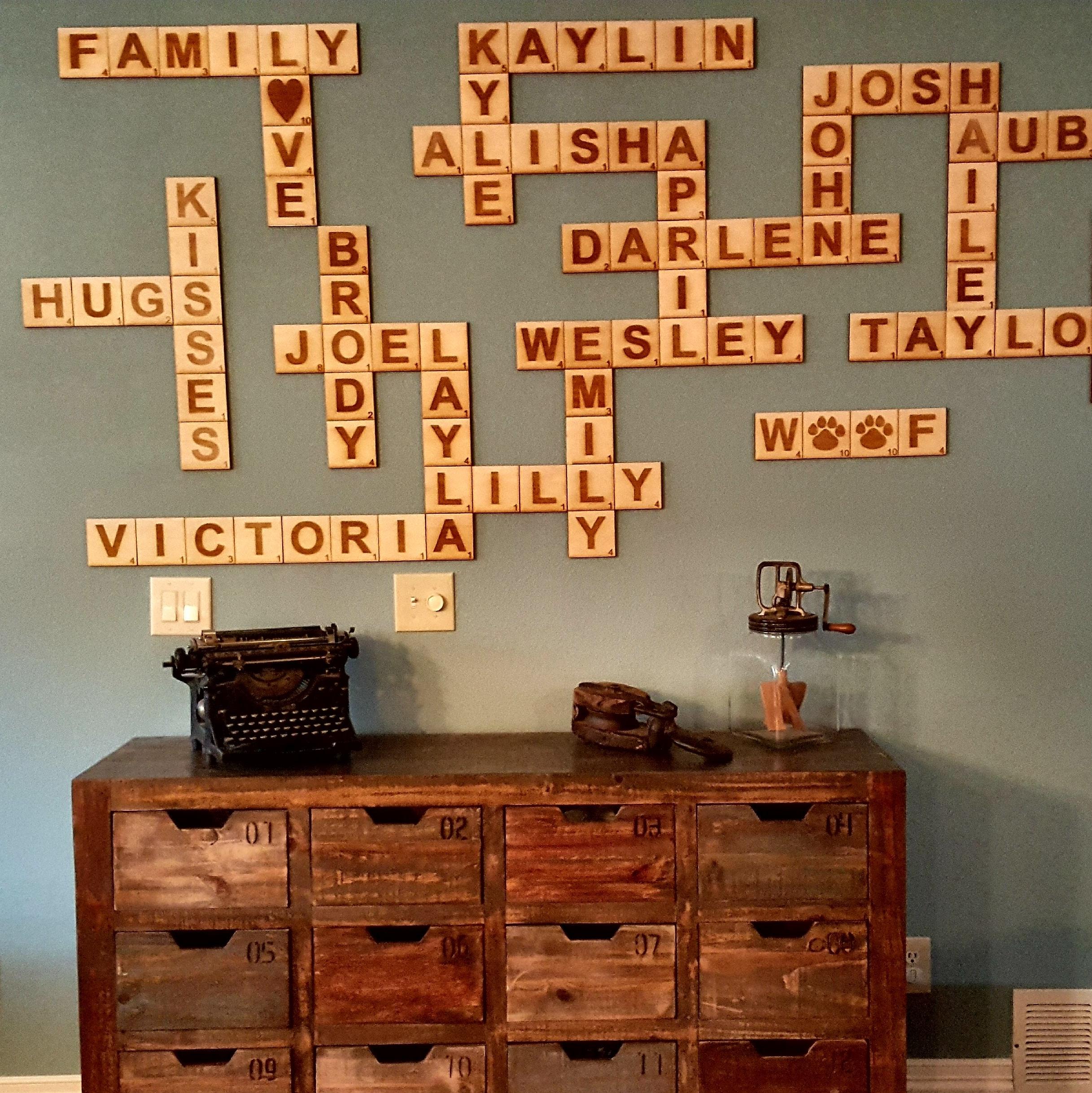 Scrabble Wall Tiles, Scrabble Letters, Scrabble Tiles, Scrabble Wall Inside Most Up To Date Scrabble Wall Art (View 17 of 20)