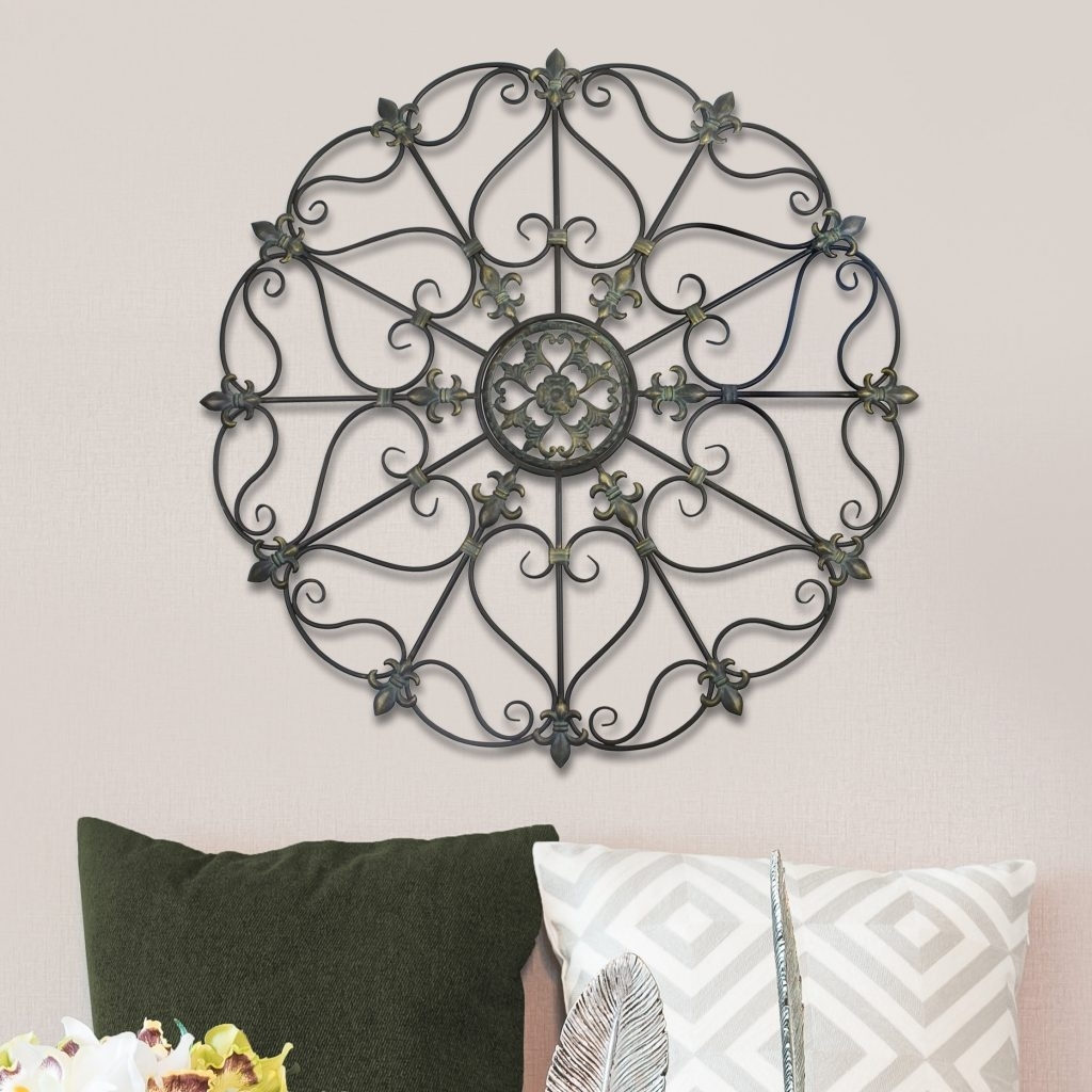 Scroll Medallion Wall Decor New Scroll Medallion Wall Art – Bsparker In Most Current Medallion Wall Art (View 14 of 20)