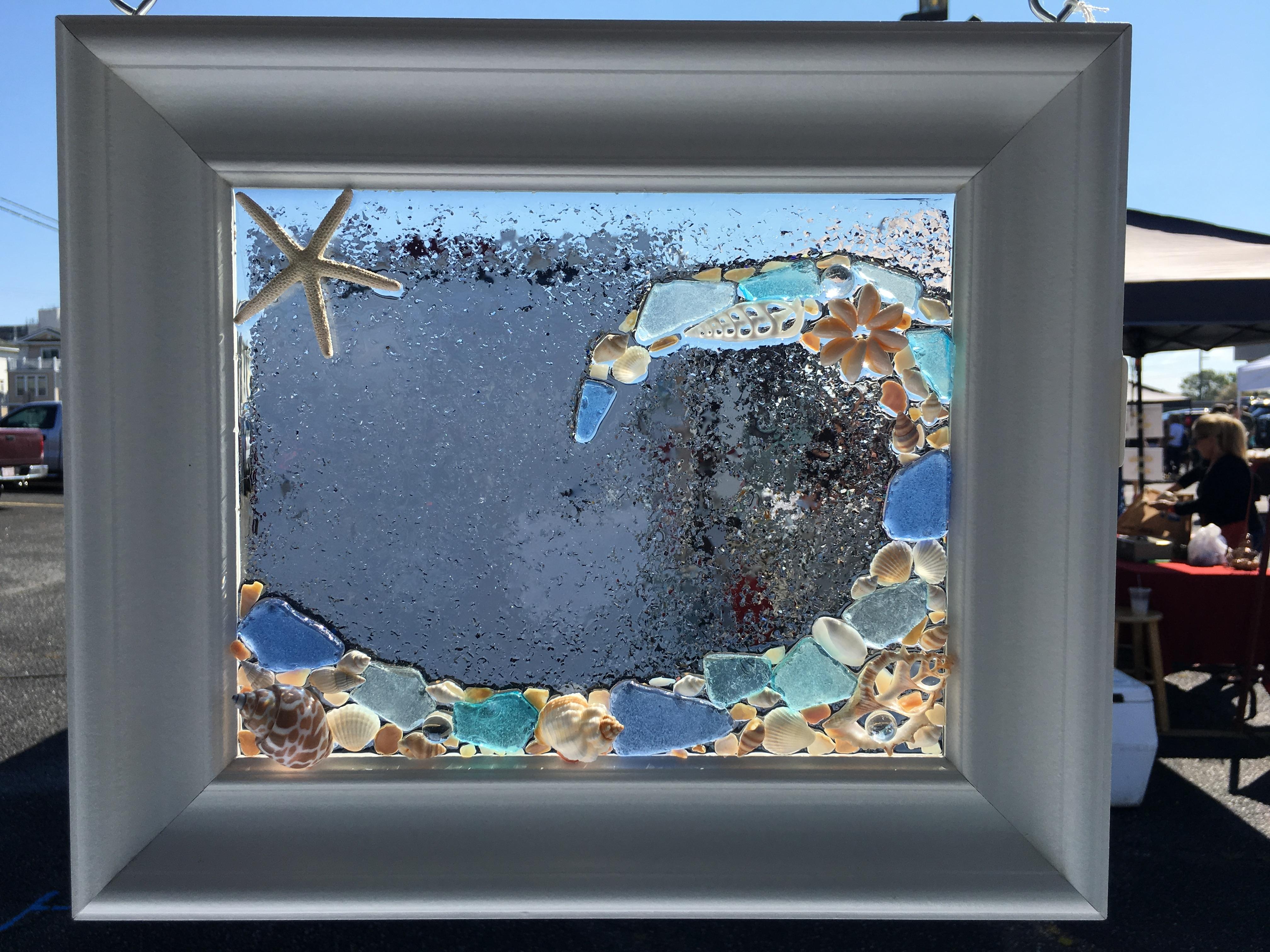 Sea Glass Wall Art Class – 5/15/18 – Virginia Beach Beads Inside Current Sea Glass Wall Art (View 4 of 15)