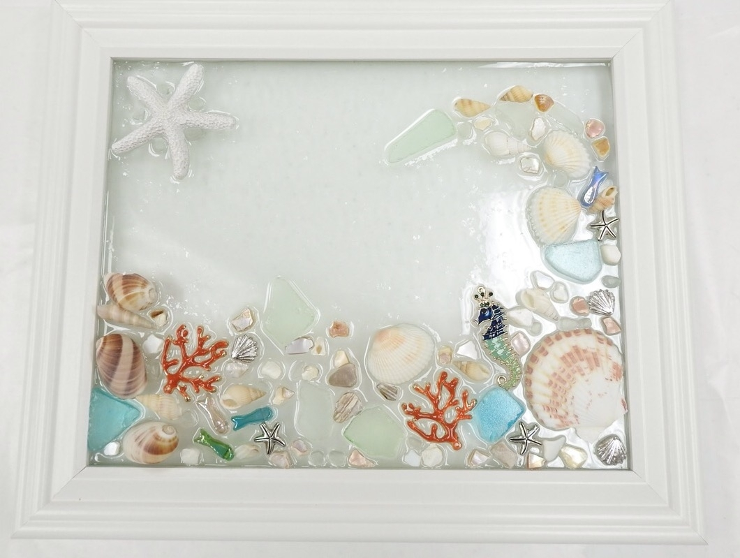 Sea Glass Wall Art Class – Virginia Beach Beads Within Best And Newest Sea Glass Wall Art (Gallery 1 of 15)
