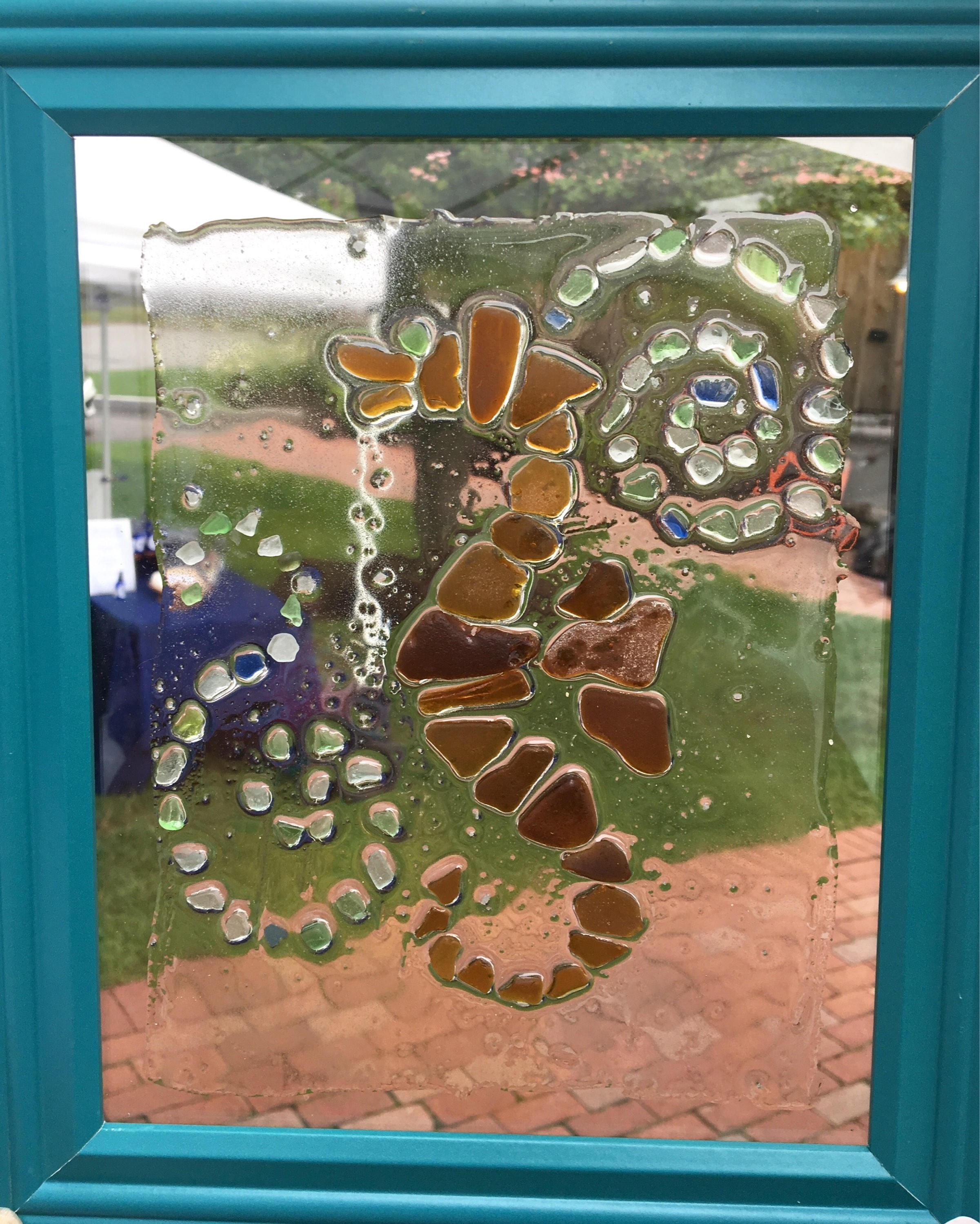 Sea Glass Wall Art: Seahorse Design Made From Genuine Sea Glass 8x10 With Regard To 2018 Sea Glass Wall Art (View 7 of 15)