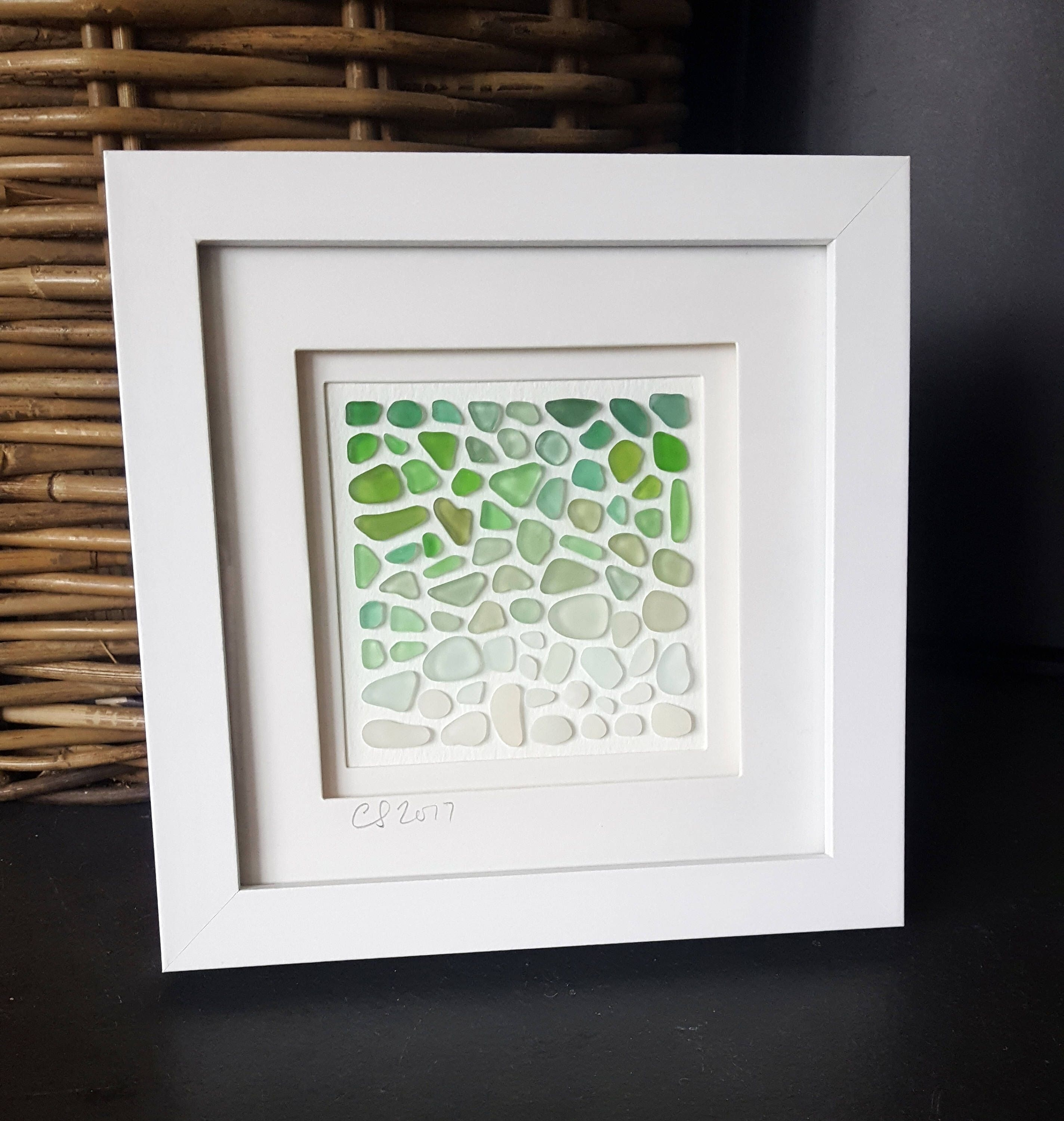 Seaglass Art, Seaglass, Unique Gift, Coastal Art, Beach Art, Home With Newest Sea Glass Wall Art (Gallery 11 of 15)