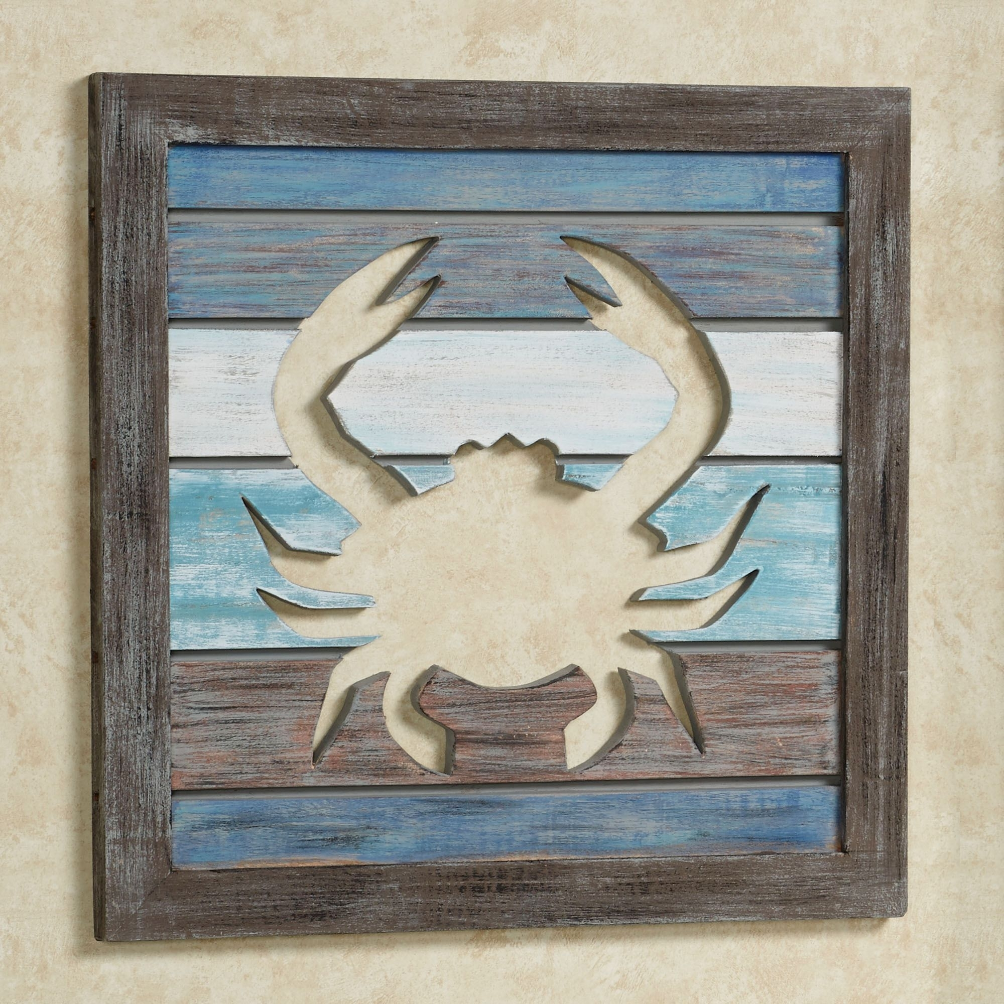 Sealife Cutout Slat Indoor Outdoor Coastal Wall Art Regarding Best And Newest Sea Life Wall Art (View 15 of 15)