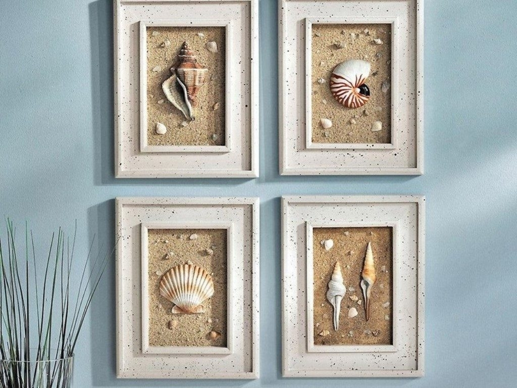 Seashell Wall Art Fresh Ideas Diy Nautical Wall Decor – Bsparker With Most Current Nautical Wall Art (Gallery 13 of 15)