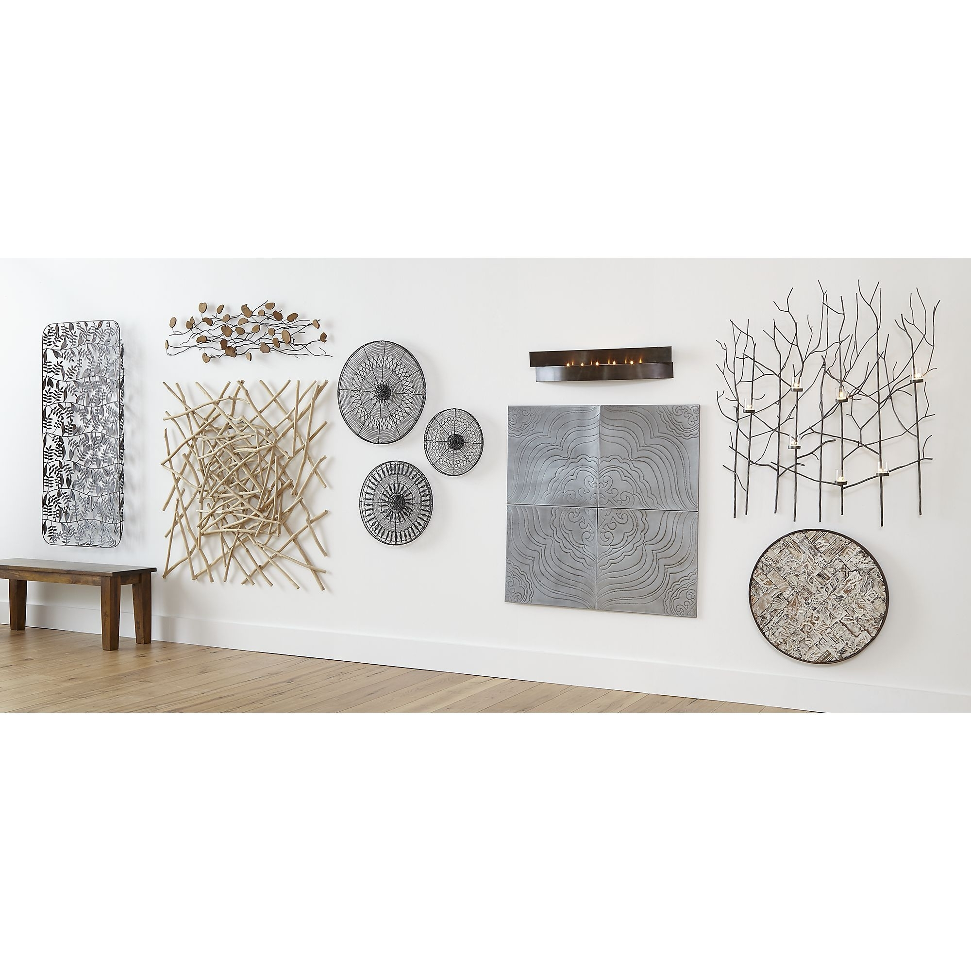 Set Of 4 Jacinto Metal Wall Art | Crate And Barrel | Ideas For The For Newest Crate And Barrel Wall Art (Gallery 5 of 20)