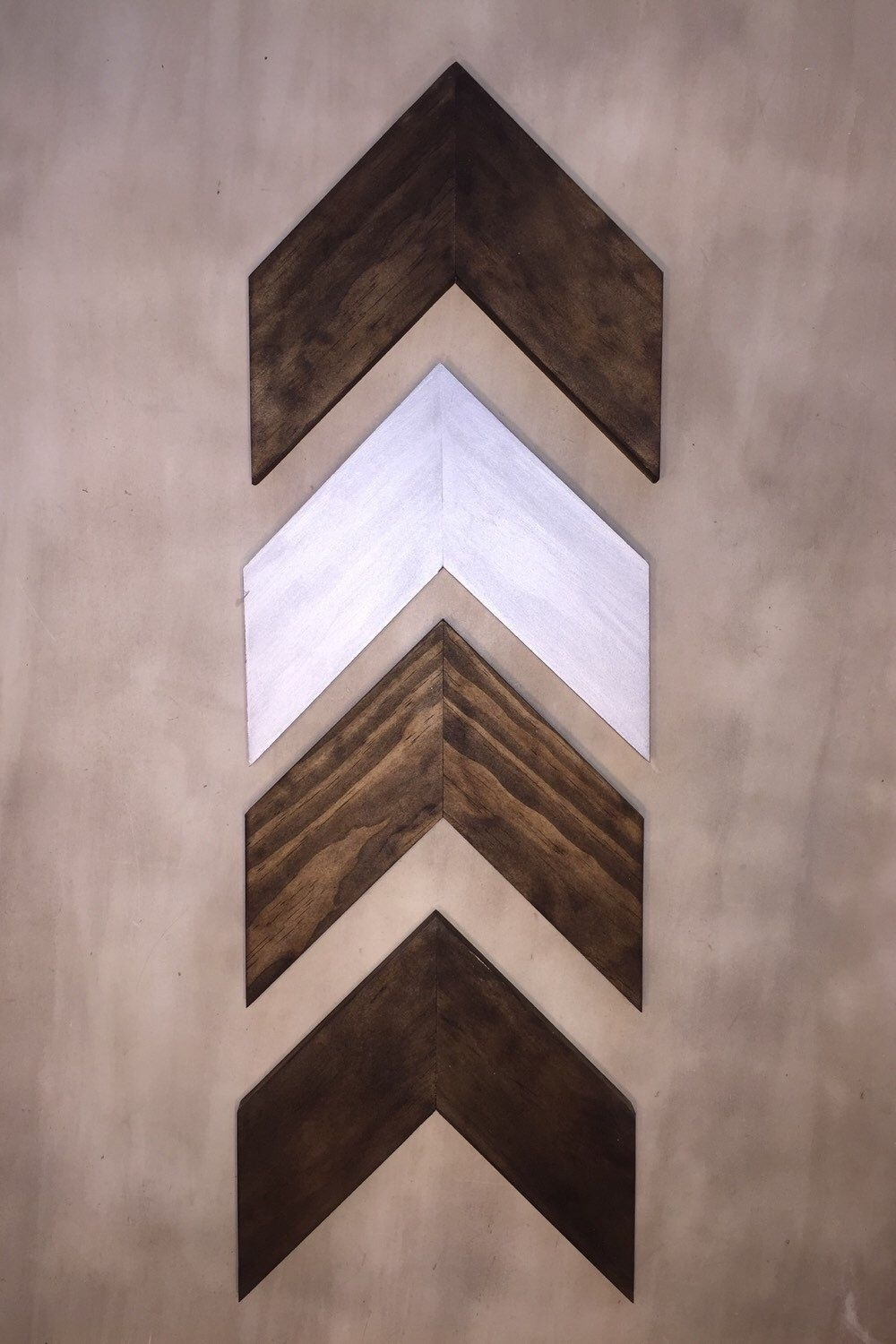 Set Of 4 Small Wood Chevron Arrows. Wood Arrow Wall Art (View 20 of 20)