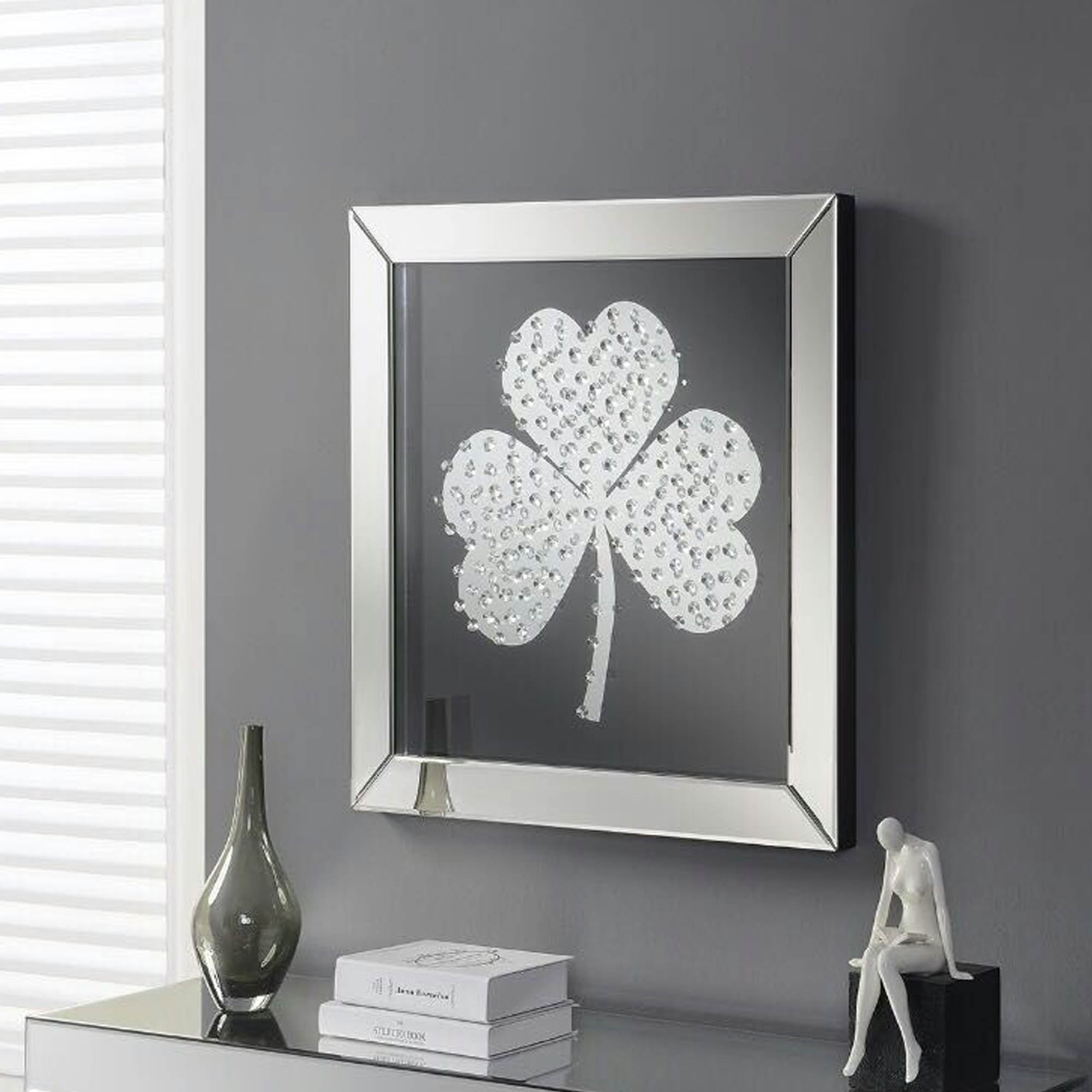 Shamrock Mirrored Wall Art | Wall Art | Homesdirect365 Regarding Most Recently Released Mirrored Wall Art (Gallery 2 of 20)