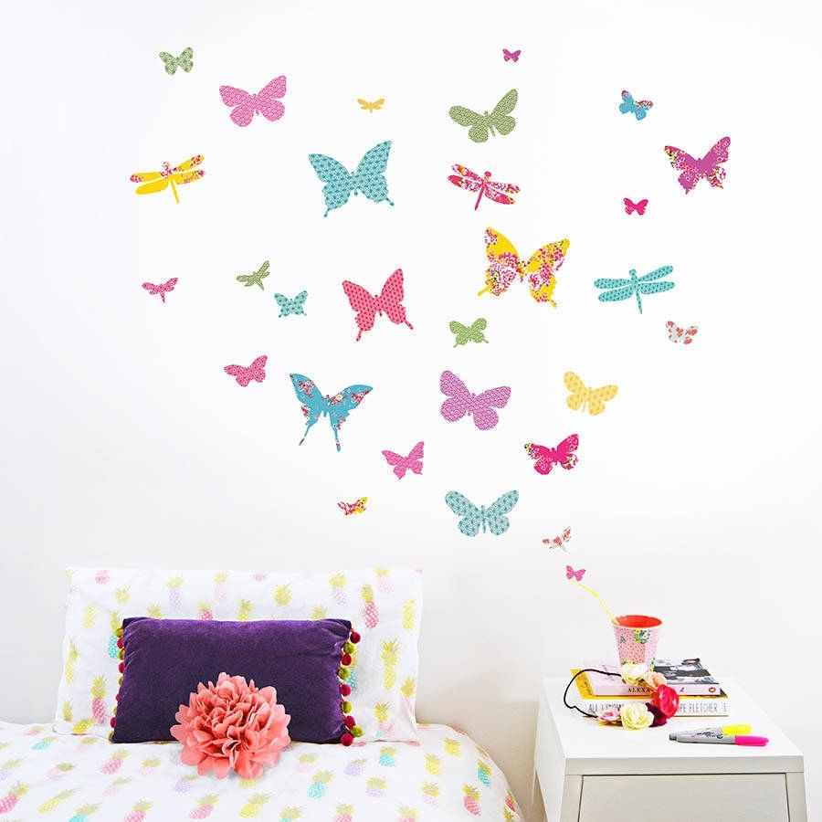 Shanghai Butterfly Wall Stickerskoko Kids | Notonthehighstreet Throughout Latest Butterfly Wall Art (View 13 of 15)