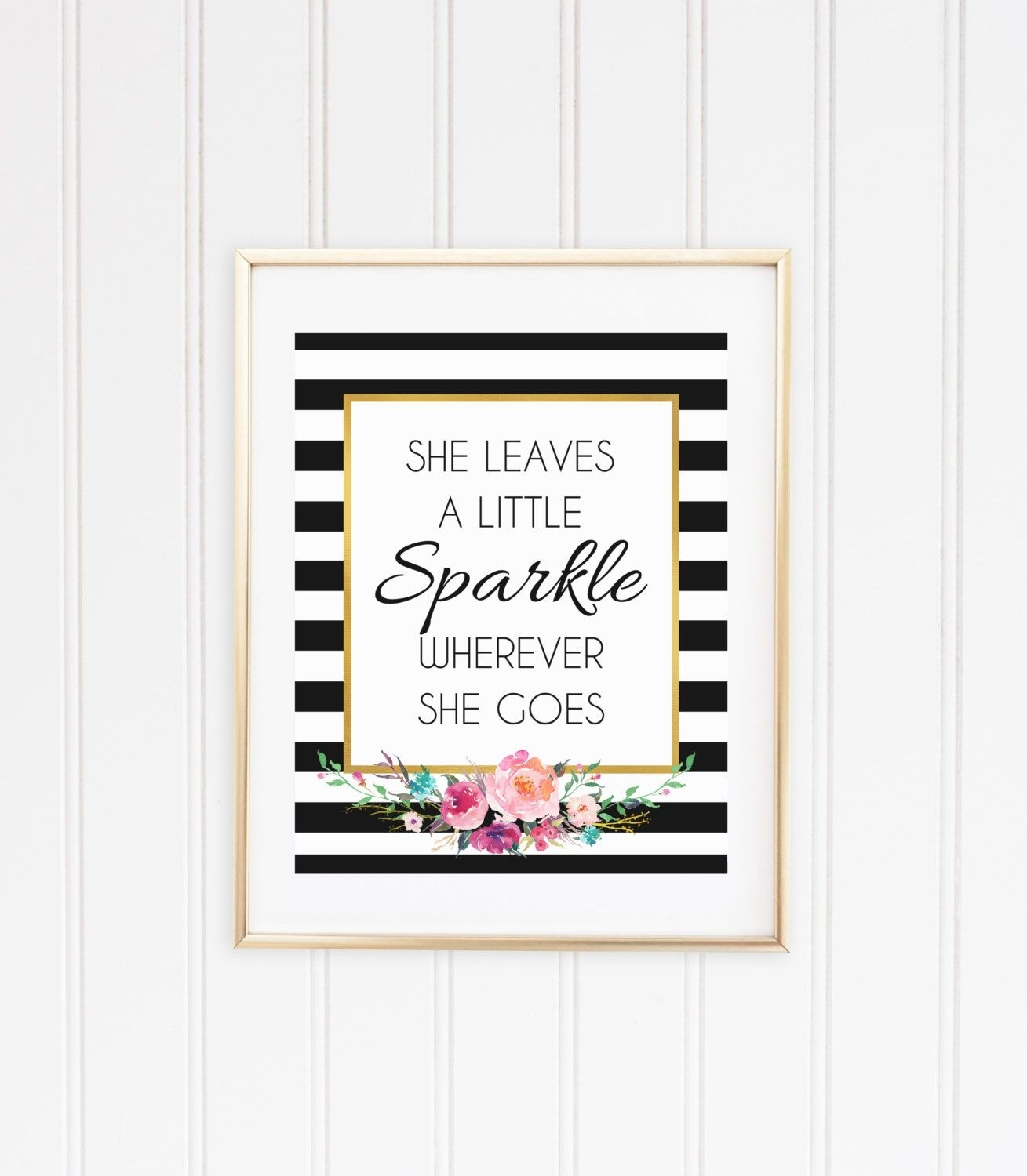 She Leaves A Little Sparkle Wherever She Goes Wall Art, Printable Within 2017 Kate Spade Wall Art (View 17 of 20)