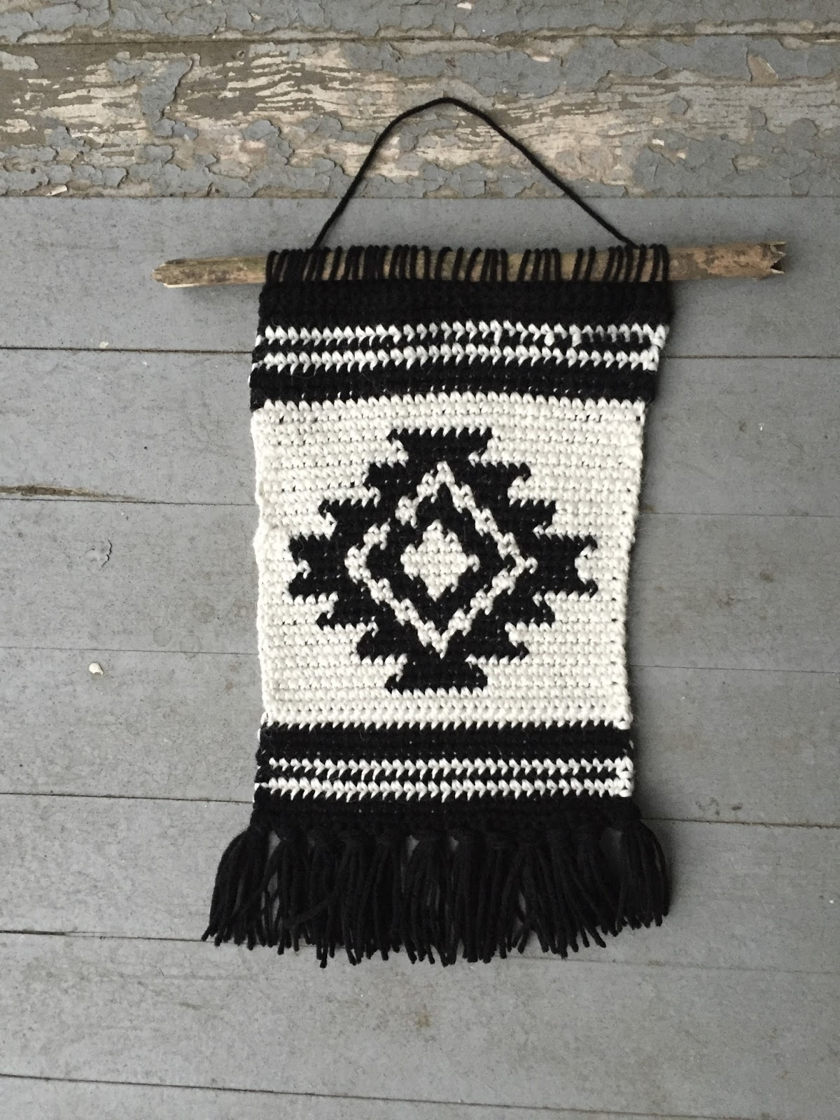 Shirley And Eadie: Crochet Wall Hanging Tutorial Pertaining To 2018 Crochet Wall Art (View 11 of 20)