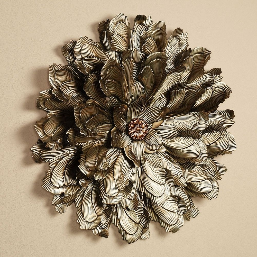 Shocking Wall Art Design Ideas Delicate Blossom Large Metal Flower With Regard To 2018 Metal Flower Wall Art (View 13 of 15)