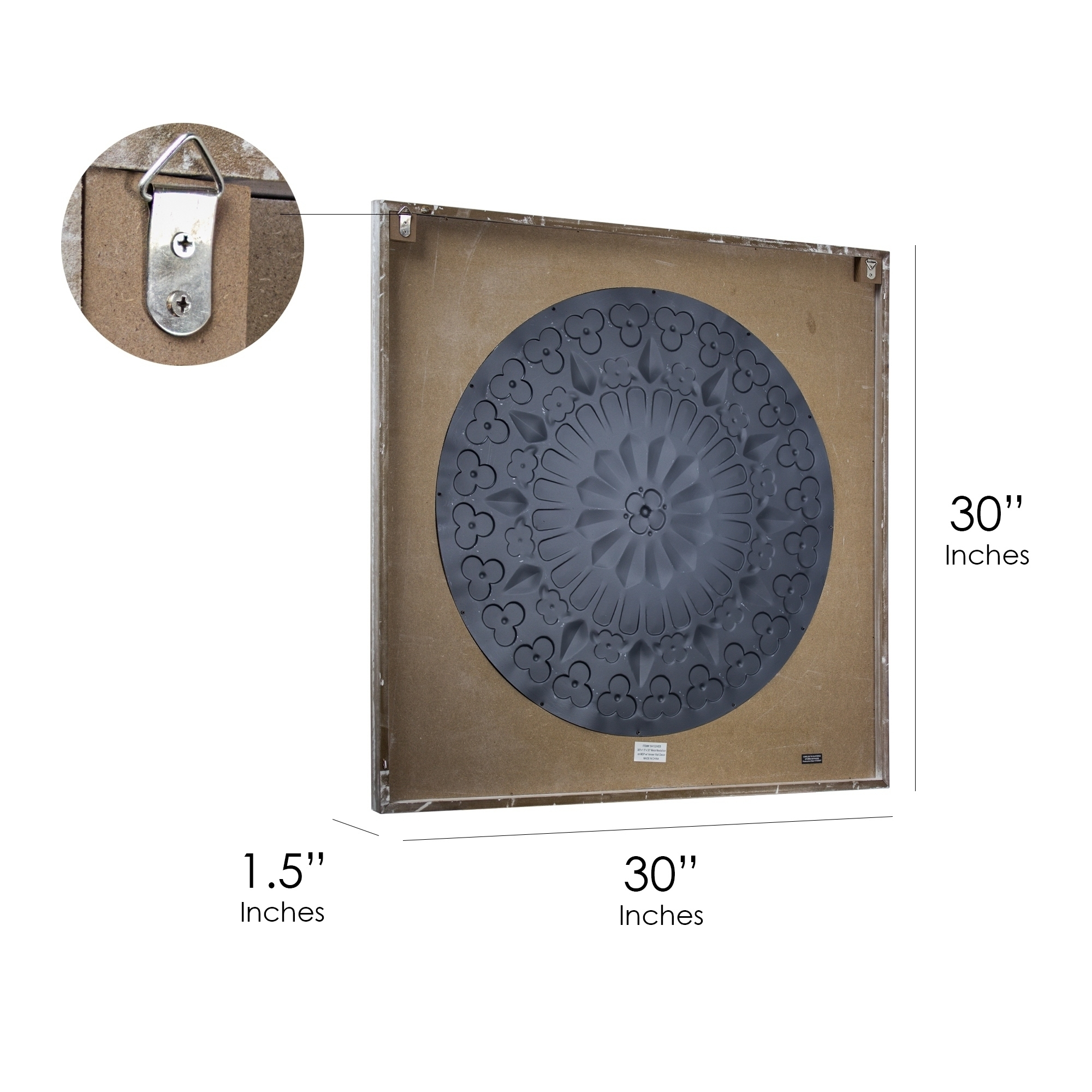 Shop American Art Decor Framed Metal Medallion On Wood Wall Décor With Regard To Most Up To Date Wood Medallion Wall Art (View 9 of 20)