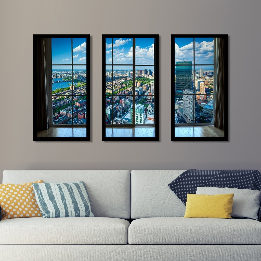 Shop Back Bay, In Boston, Massachusetts Window' Framed Plexiglass Throughout Most Up To Date Boston Wall Art (Gallery 8 of 20)
