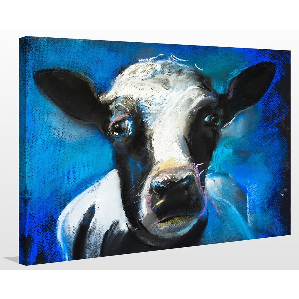 "Shop ""cow Face"" Giclee Print Canvas Wall Art – On Sale – Free Inside Most Up To Date Cow Canvas Wall Art (View 17 of 20)"
