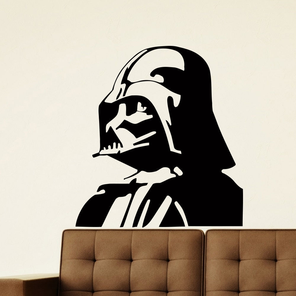 Shop Darth Vader Vinyl Wall Art Decal Sticker – Free Shipping On Pertaining To Most Recent Darth Vader Wall Art (Gallery 12 of 20)