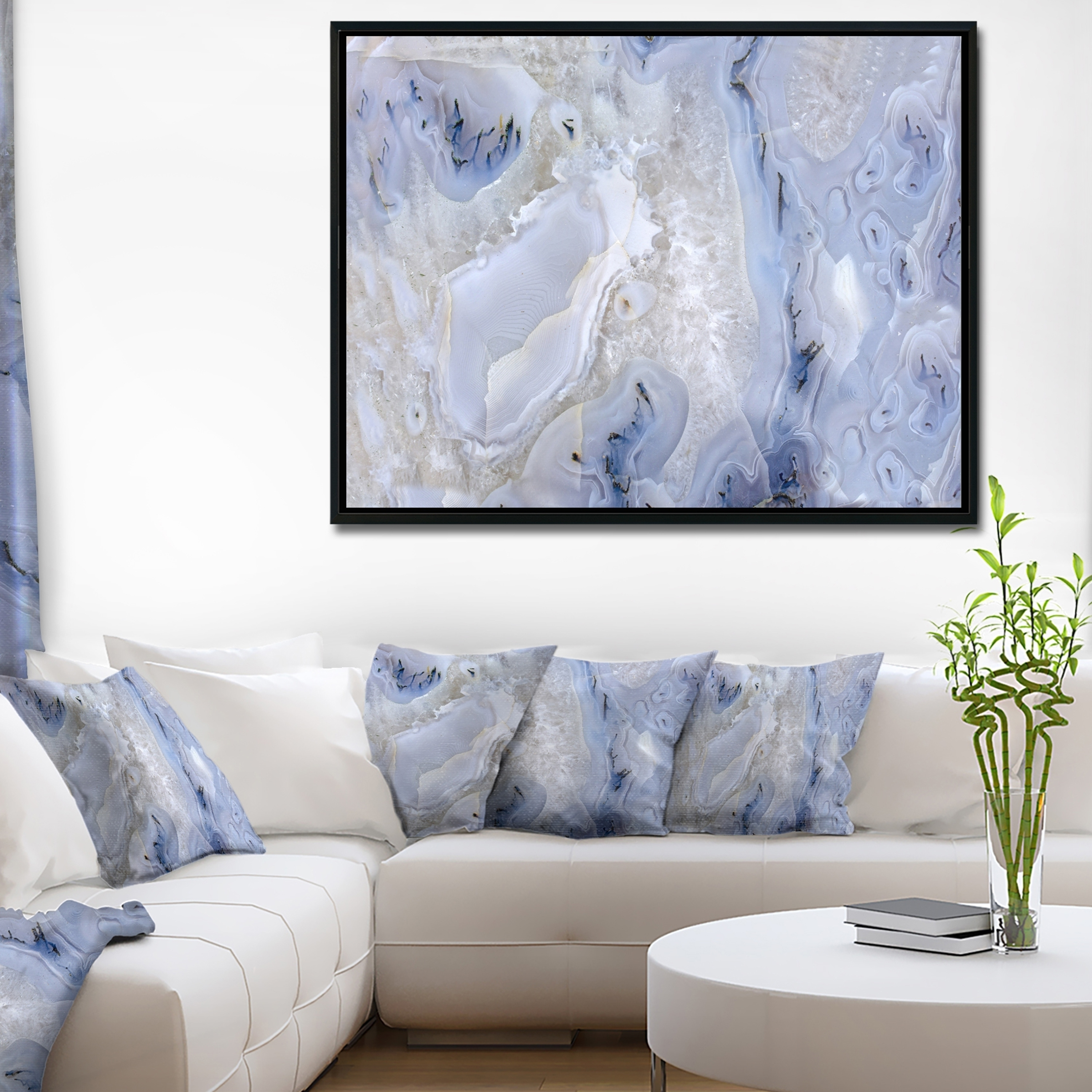 Shop Designart 'agate Stone Background' Abstract Framed Canvas Wall Intended For Current Agate Wall Art (Gallery 9 of 20)