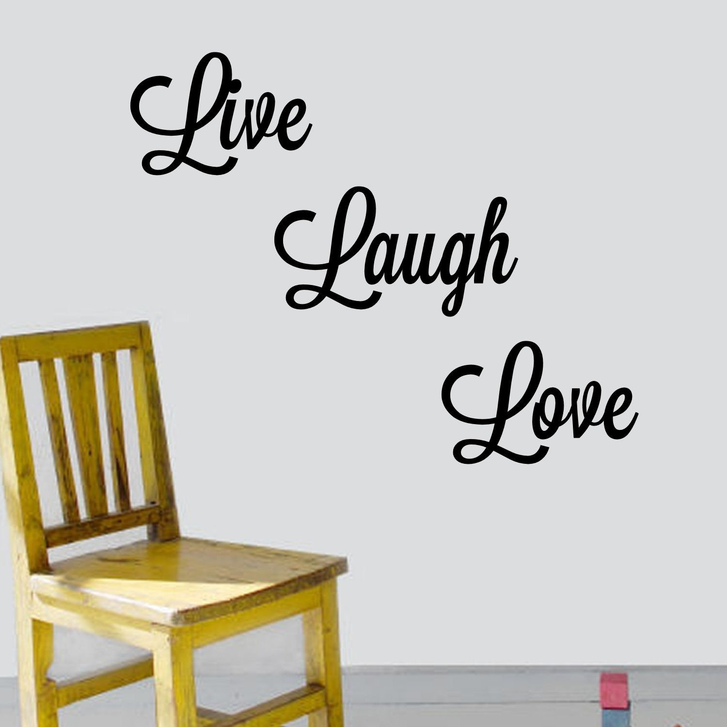 Shop 'live, Laugh, Love' Vinyl Wall Art Decal – Free Shipping On Within Latest Live Laugh Love Wall Art (View 19 of 20)