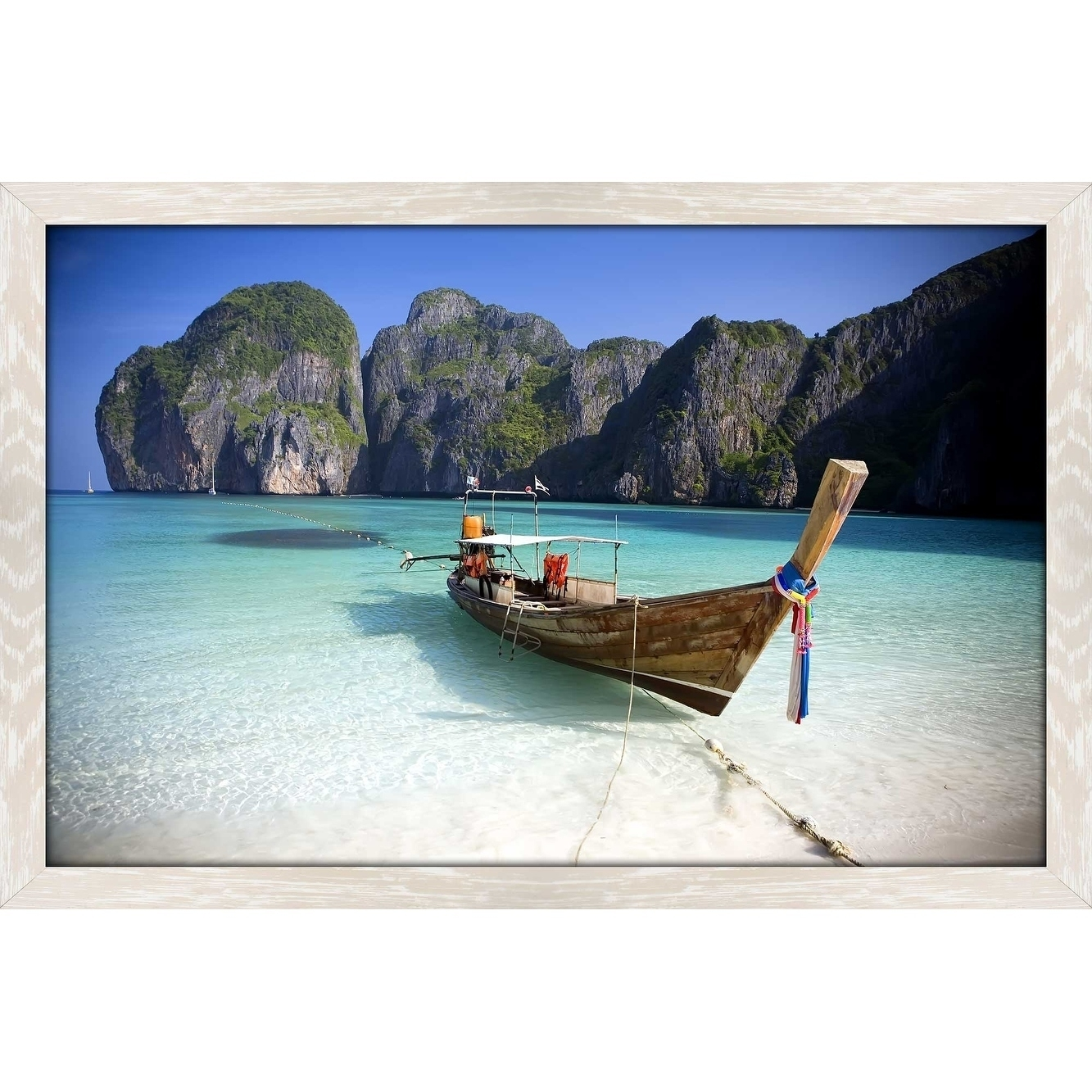 """Shop """"phi Phi Island, Thailand"""" Framed Acrylic Wall Art – On Sale Pertaining To Newest Long Island Wall Art (View 19 of 20)"""