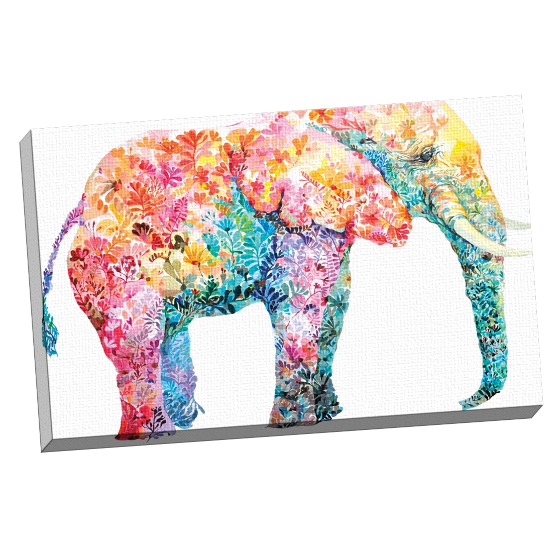 Shop Portfolio Canvas Decor Maria Varela 'elephant Gum' Framed With Most Recently Released Elephant Canvas Wall Art (View 19 of 20)