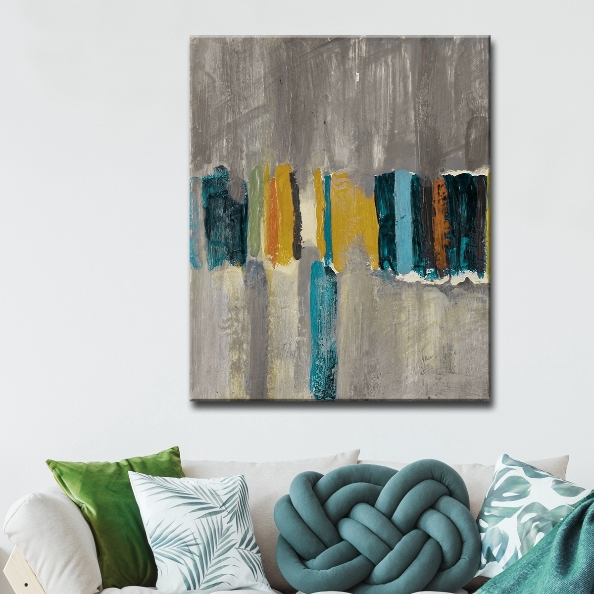 Shop Ready2Hangart 'smash Vii' Oversized Canvas Wall Art – Grey With Regard To Most Recently Released Oversized Teal Canvas Wall Art (View 16 of 20)