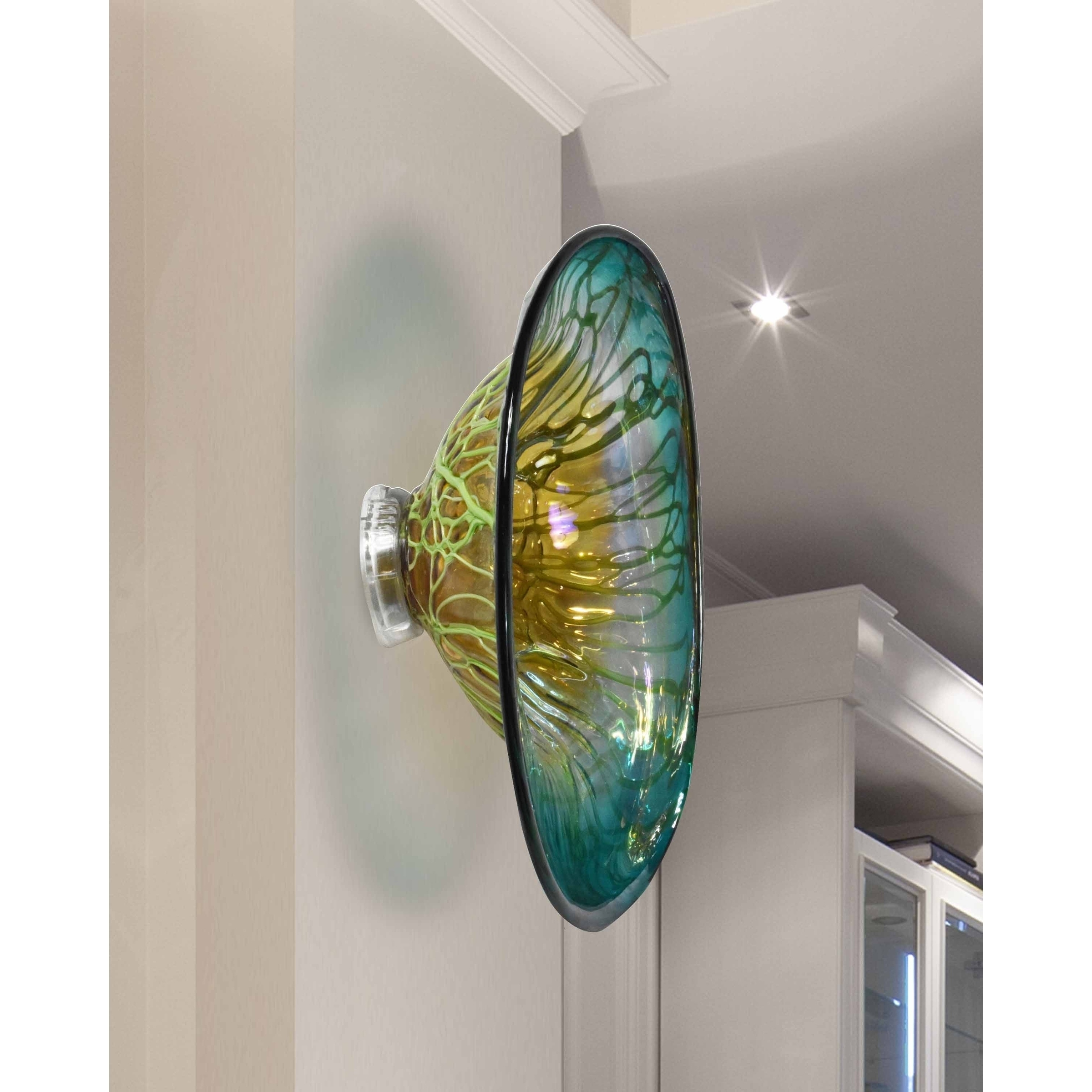 """Shop Springdale 7.5""""h Artleta Hand Blown Art Glass Wall Decor – Free Intended For 2017 Blown Glass Wall Art (Gallery 20 of 20)"""