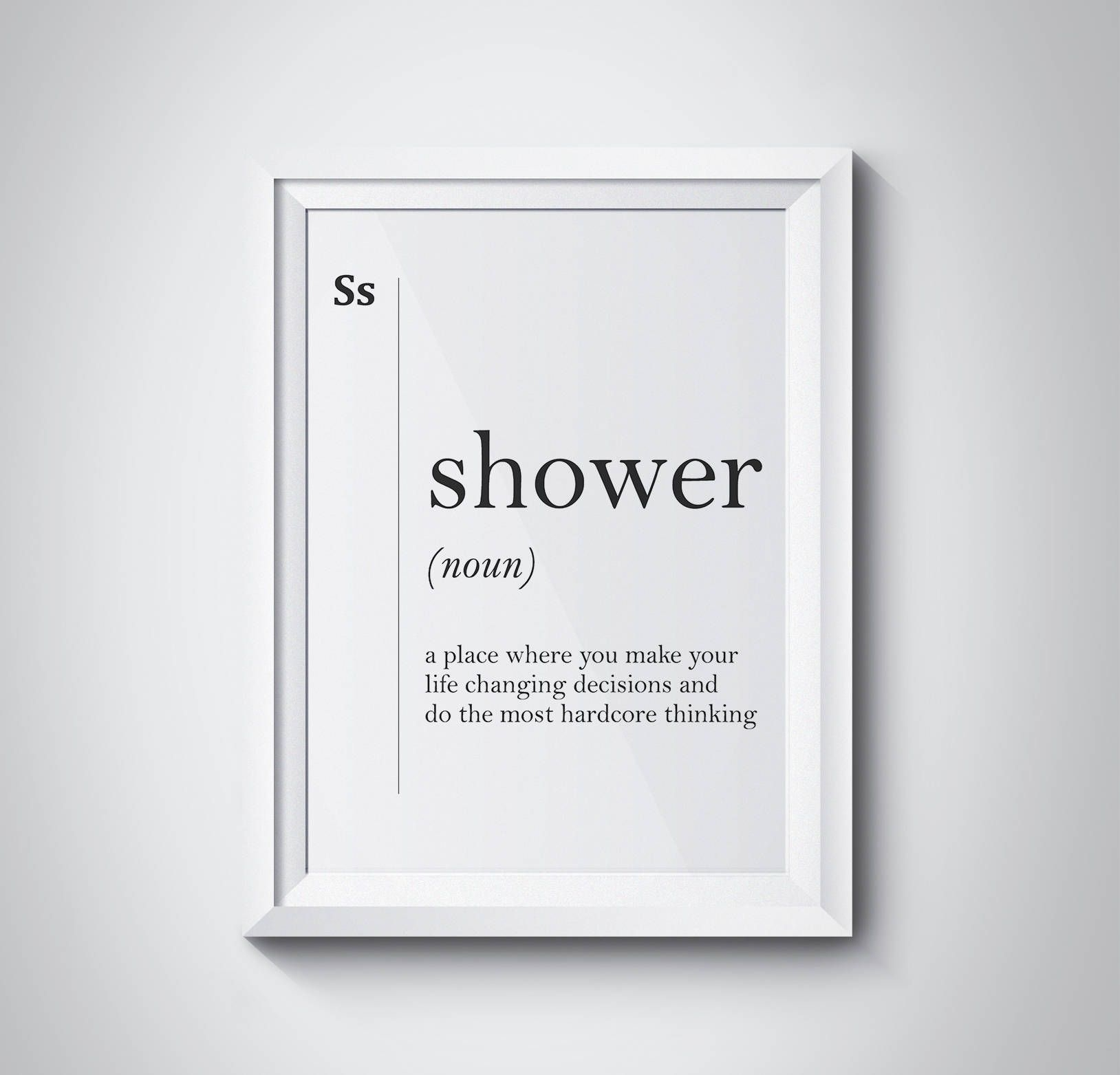 Shower Definition Bathroom Print Bathroom Wall Art Funny Bathroom With Regard To Most Up To Date Wall Art For Bathroom (Gallery 3 of 20)