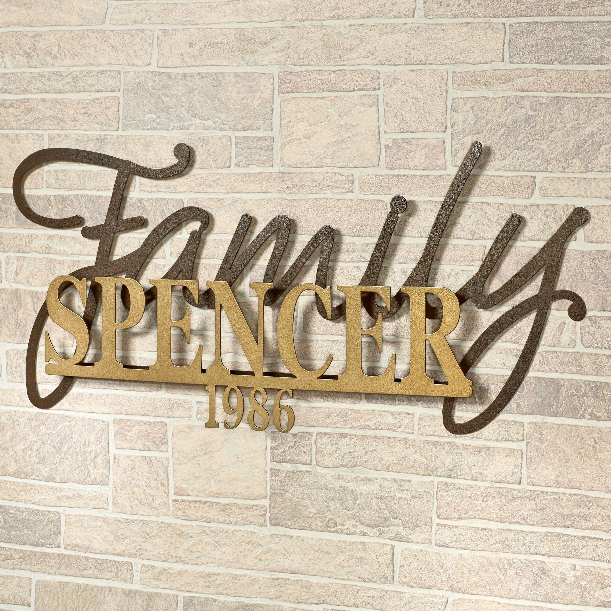 Signature Established Year Personalized Metal Wall Art Sign With Most Up To Date Family Name Wall Art (Gallery 18 of 20)