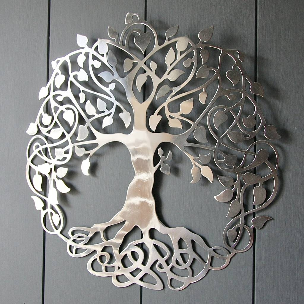 Silver Tree Of Life Wall Artlondon Garden Trading For Most Popular Silver Wall Art (View 14 of 20)
