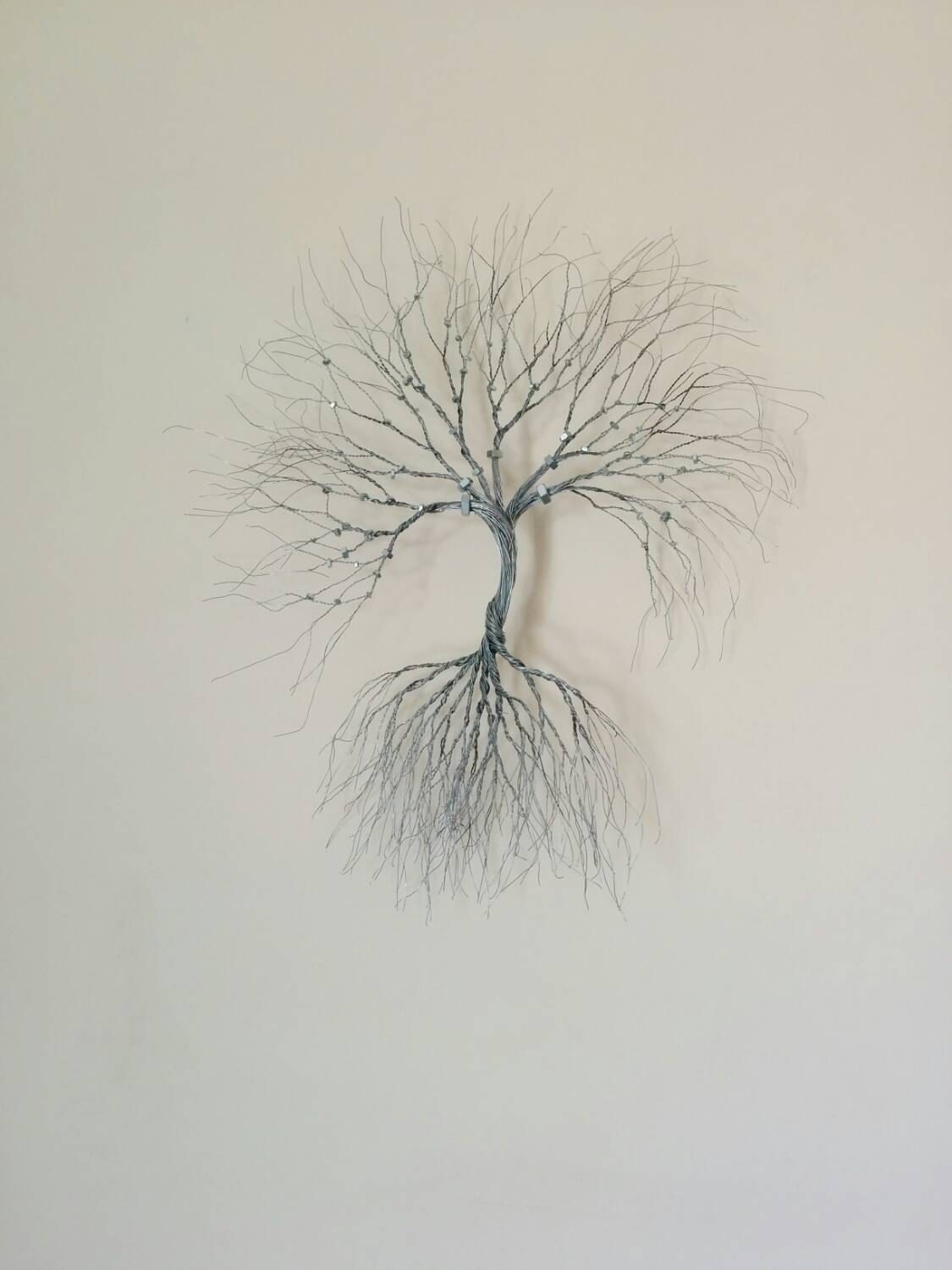 Silver Wire Wall Art Tree Of Life Wall Decoration Decorative  Wire Inside 2018 Wire Wall Art (Gallery 11 of 20)