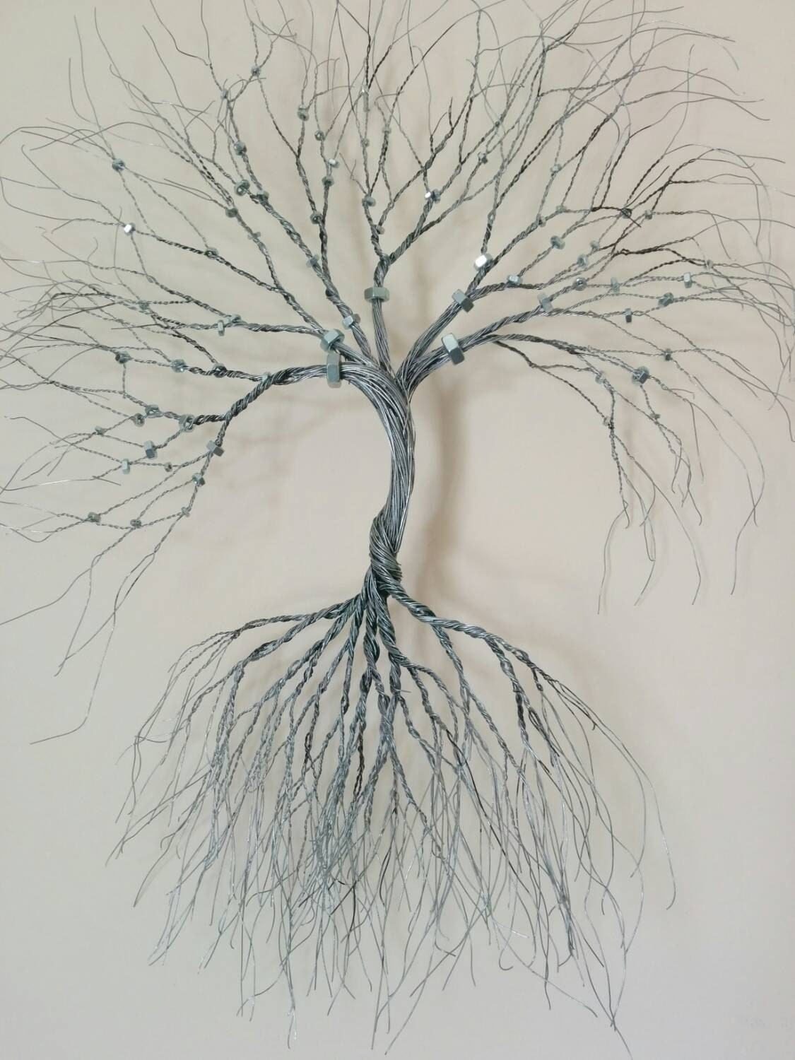 Silver Wire Wall Art Tree Of Life Wall Decoration Decorative  Wire Pertaining To Best And Newest Wire Wall Art (View 17 of 20)