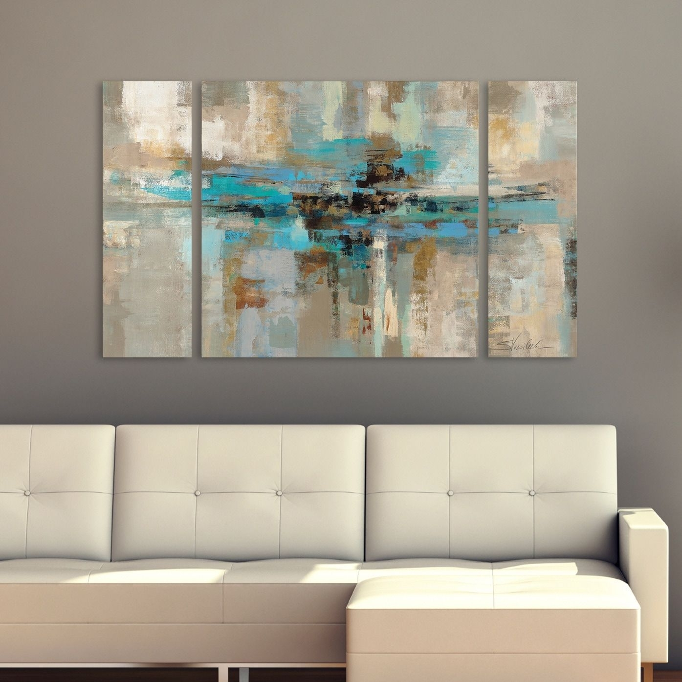 Silvia Vassileva Morning Fjord 3 Piece Canvas Wall Art Set In Best And Newest Overstock Wall Art (View 18 of 20)