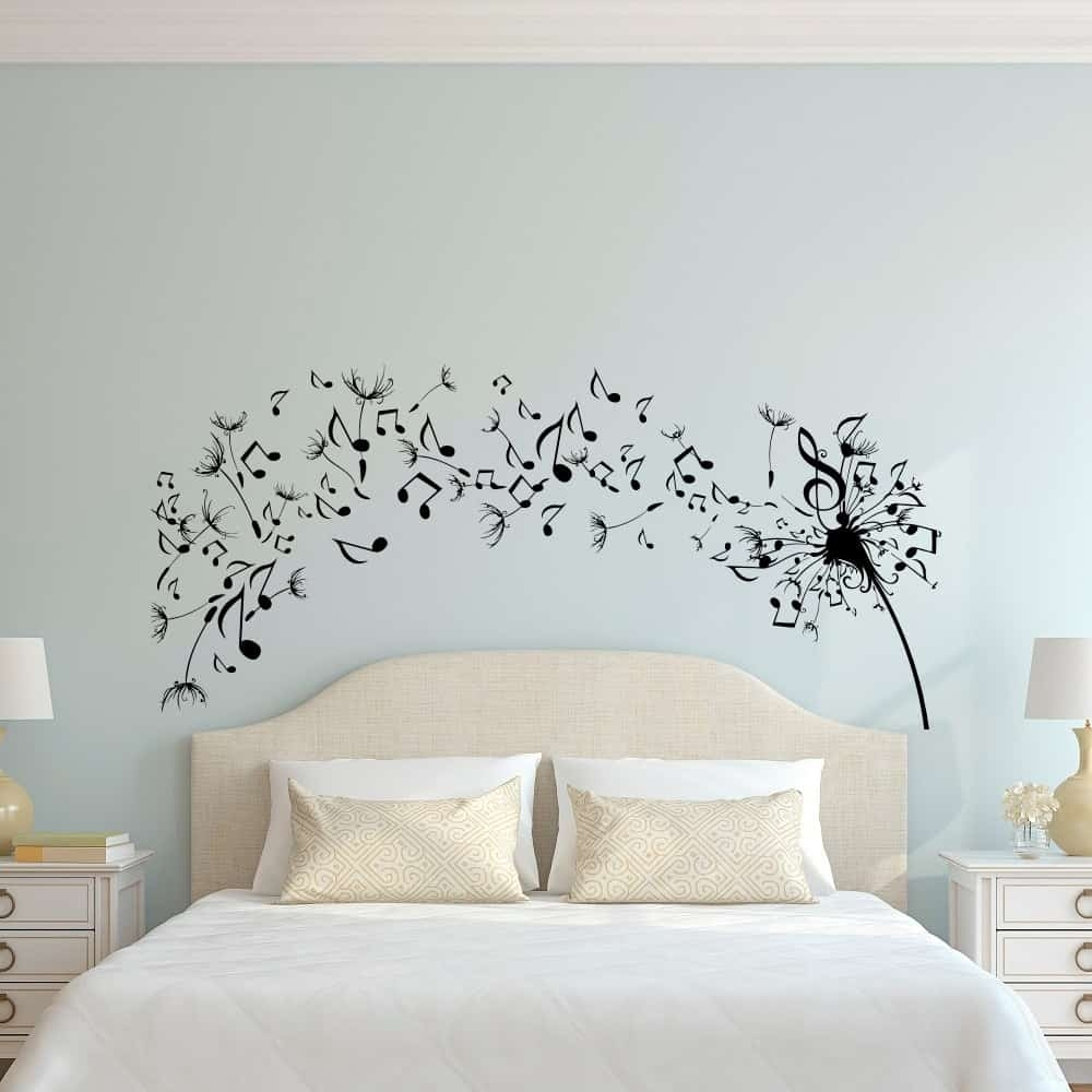 Simple Dandelion Wall Art Decal For Bedroom Design – Home Decor With Best And Newest Dandelion Wall Art (Gallery 16 of 20)